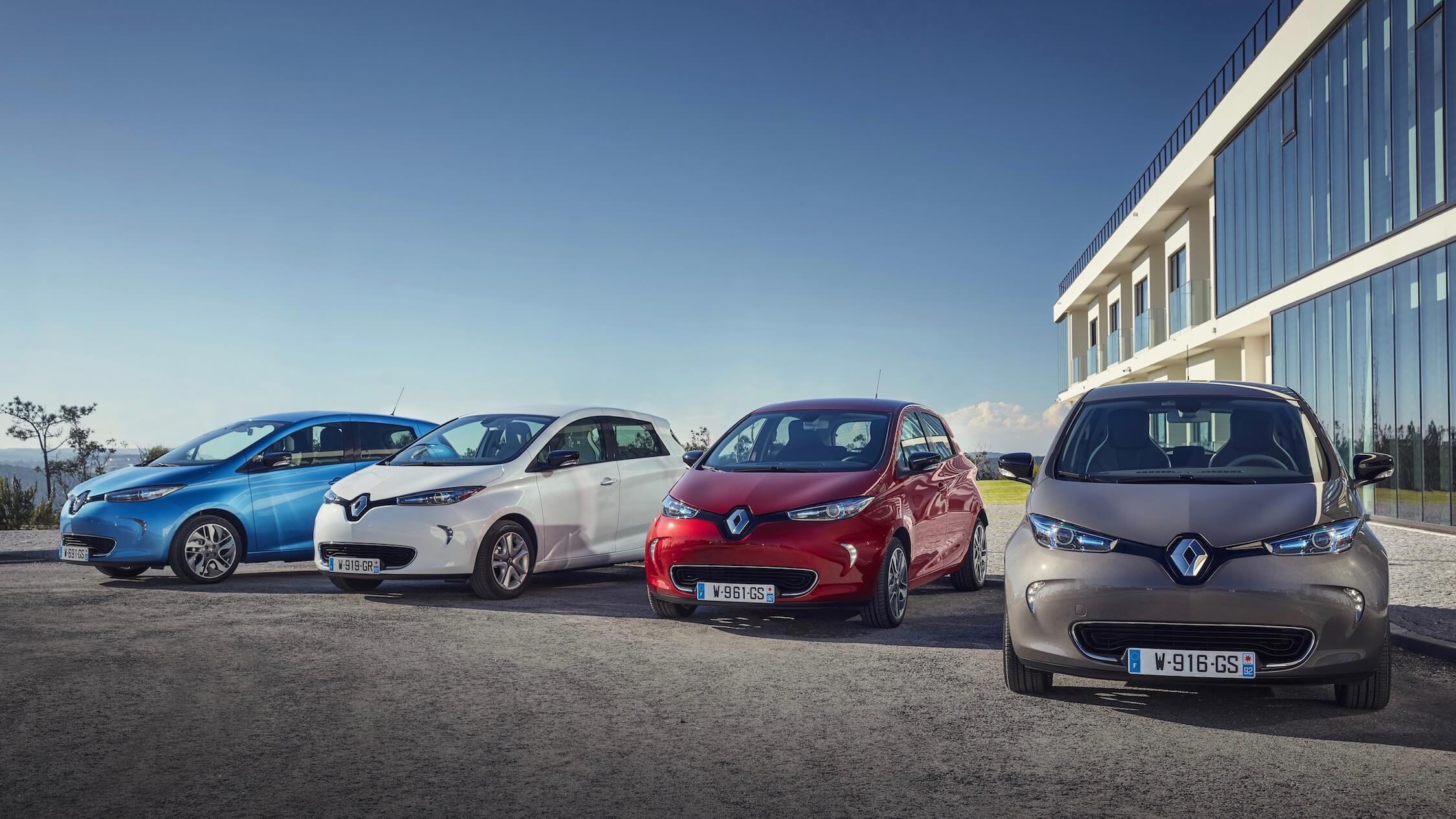 Renault Zoe kleuren