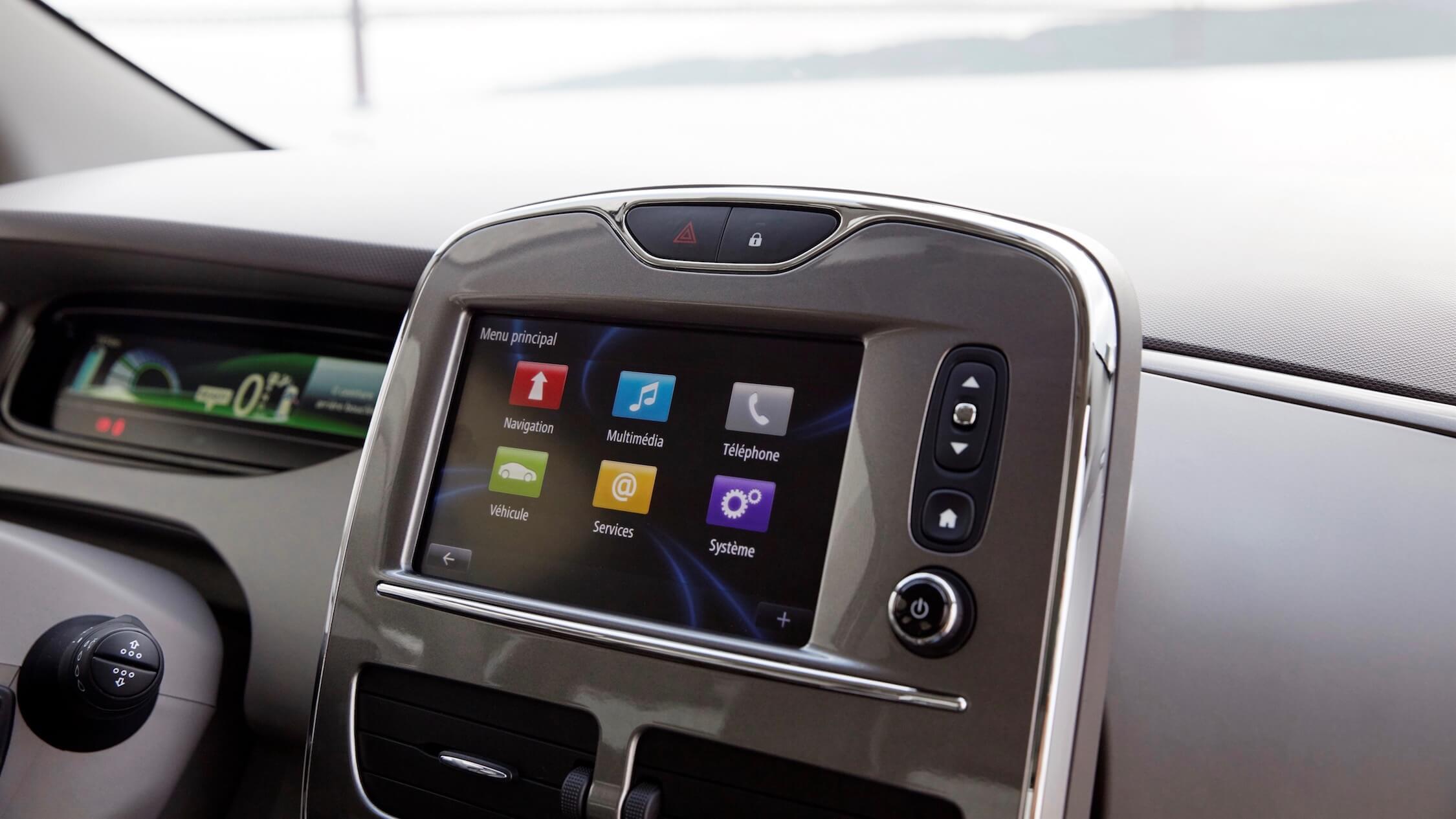 Renault Zoe scherm