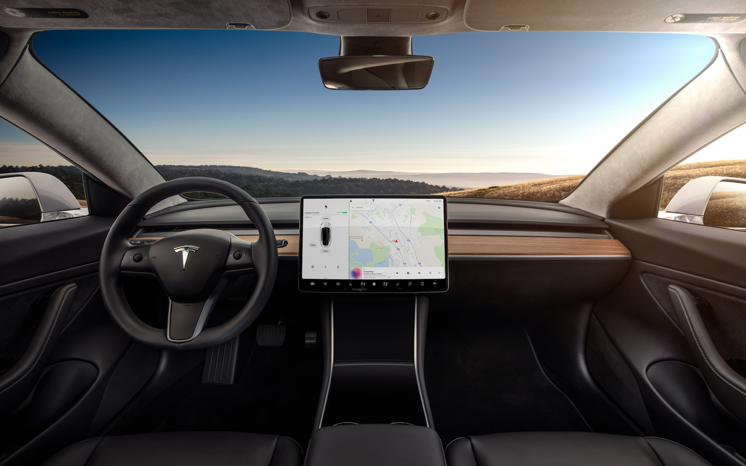 Model 3 Interior Dashboard – Head On