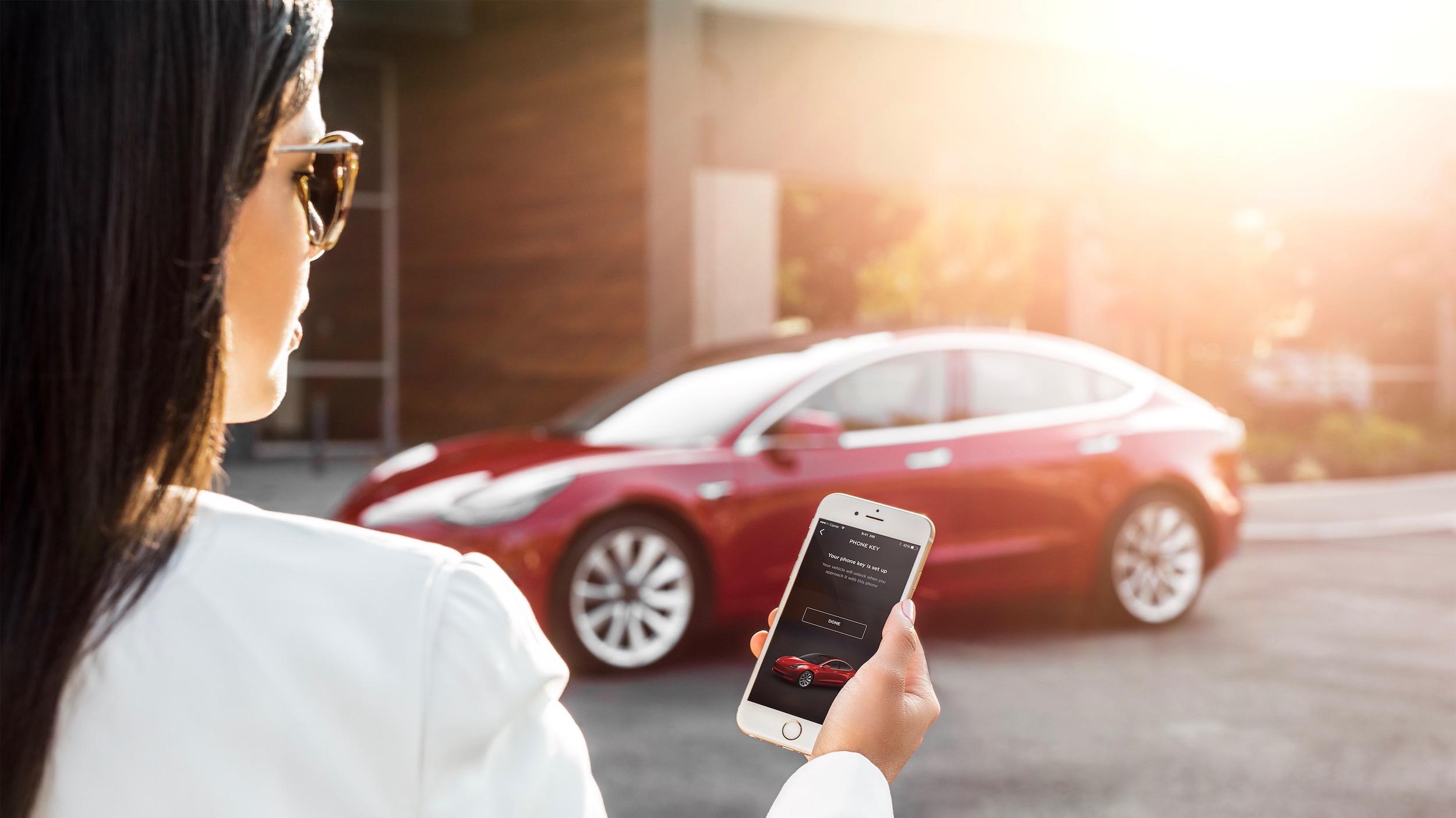 Model 3 – My Tesla Phone App as Key