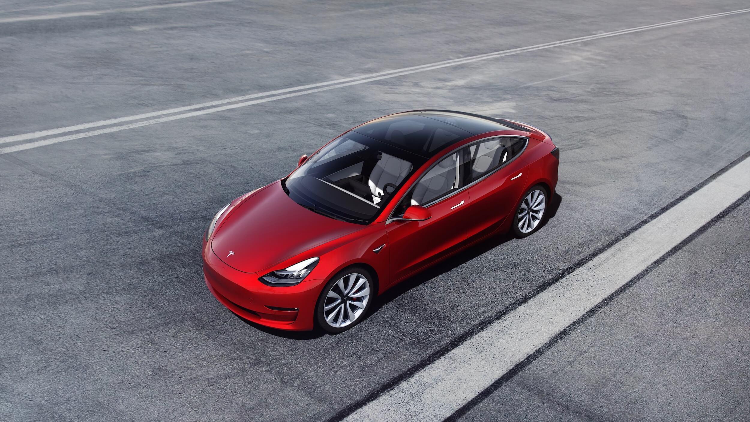 Model 3 met panoramisch dak