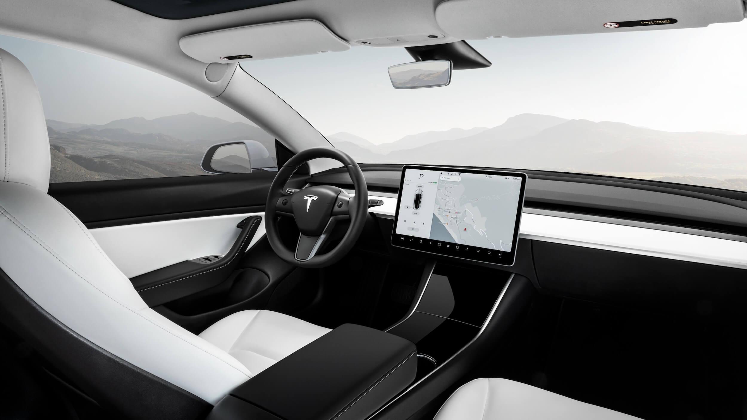 Model 3 wit interieur