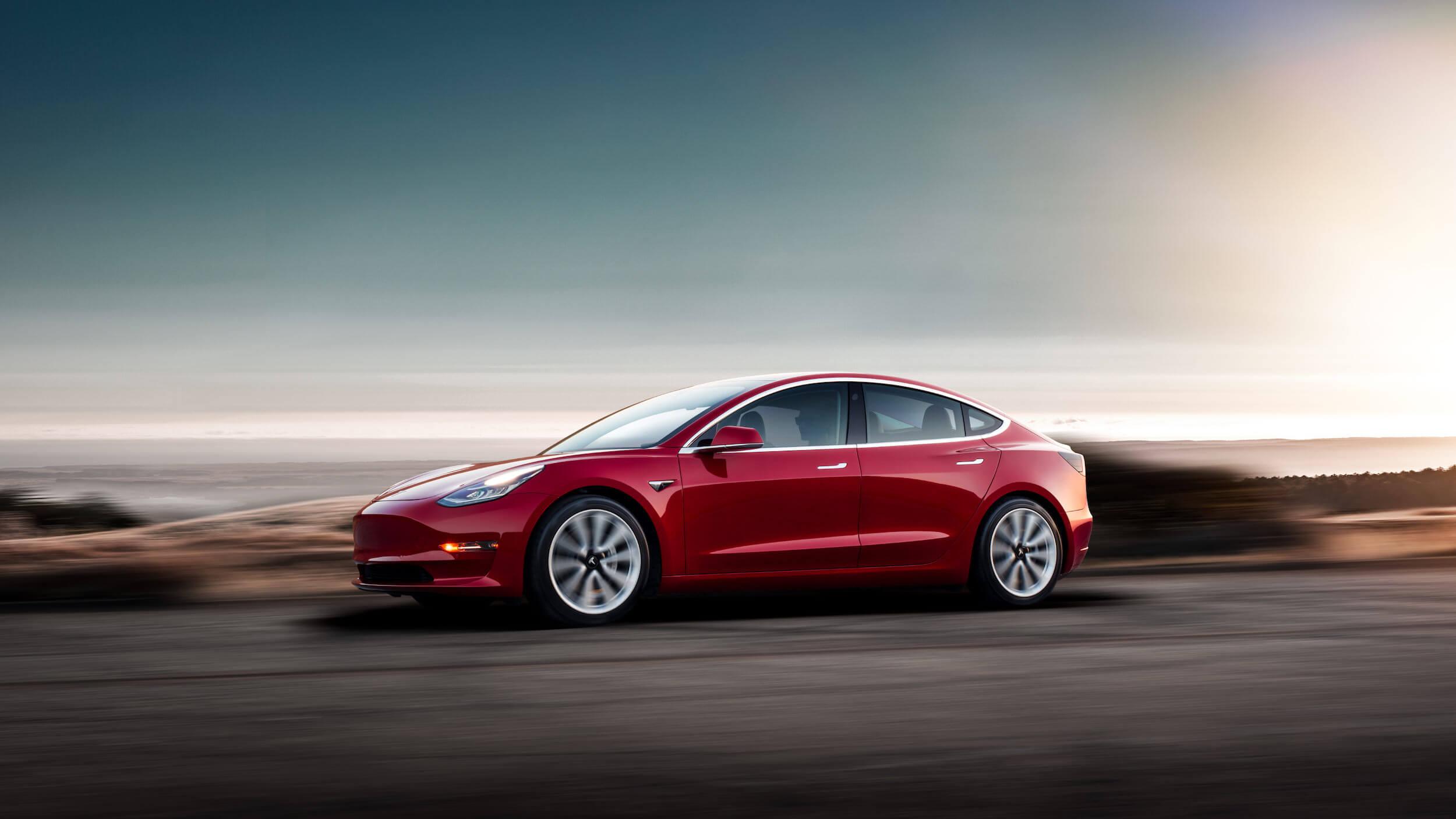 Rode Tesla Model 3