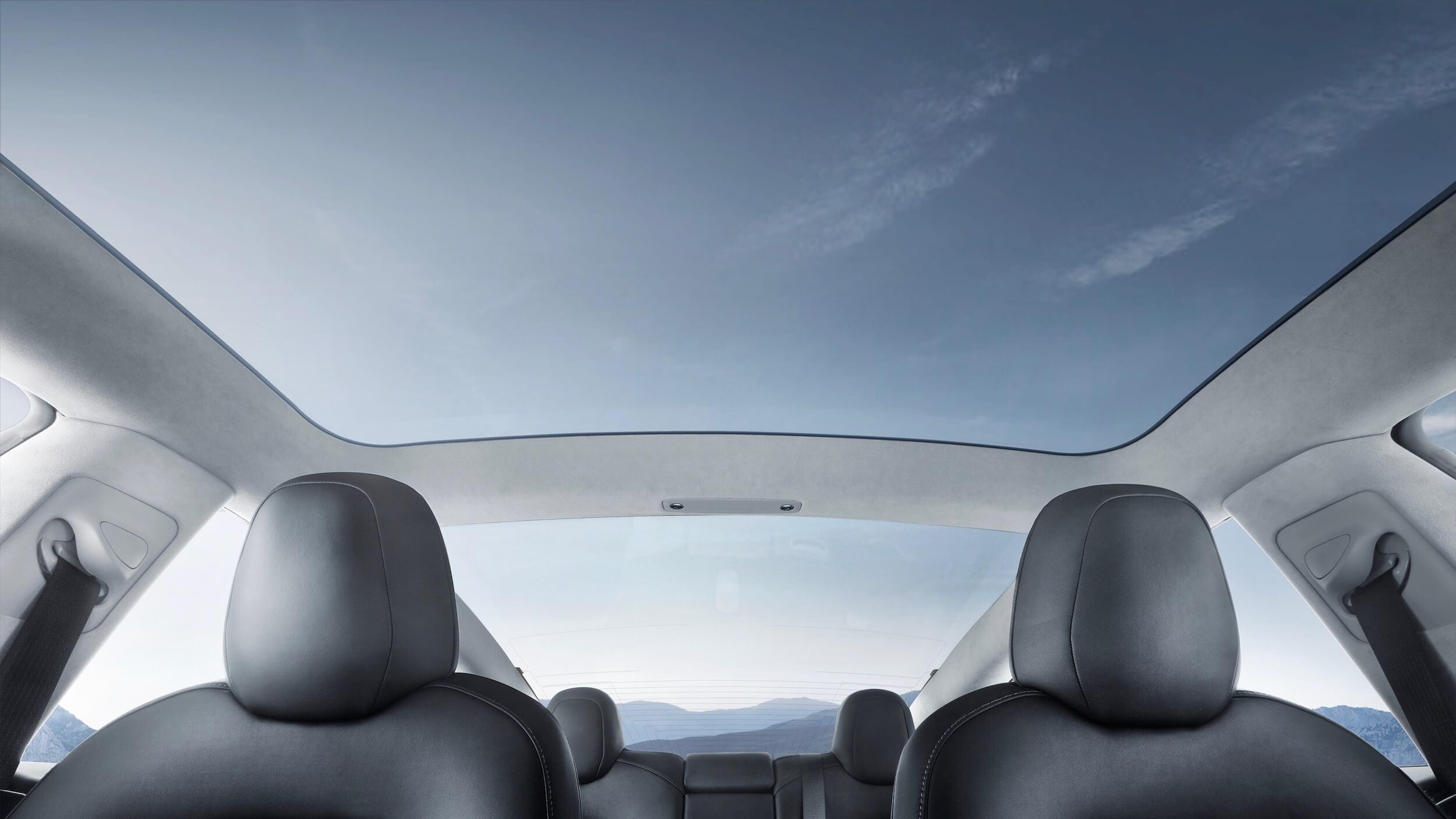 Tesla Model 3 glazen dak