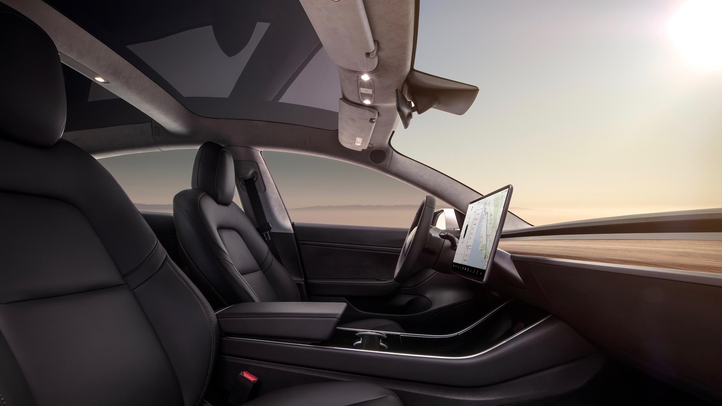 Tesla Model 3 stoelen