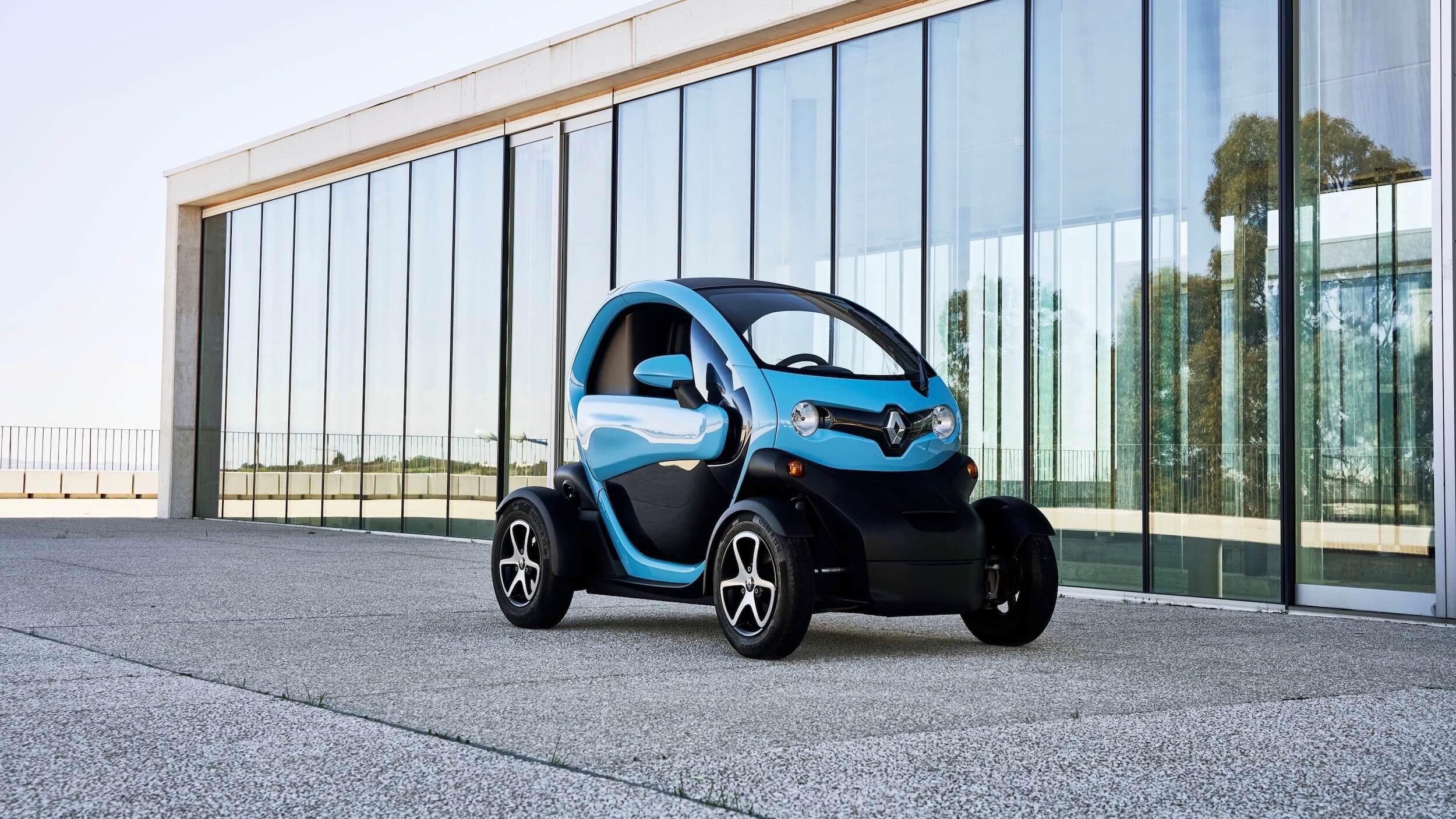 Blauwe Renault Twizy