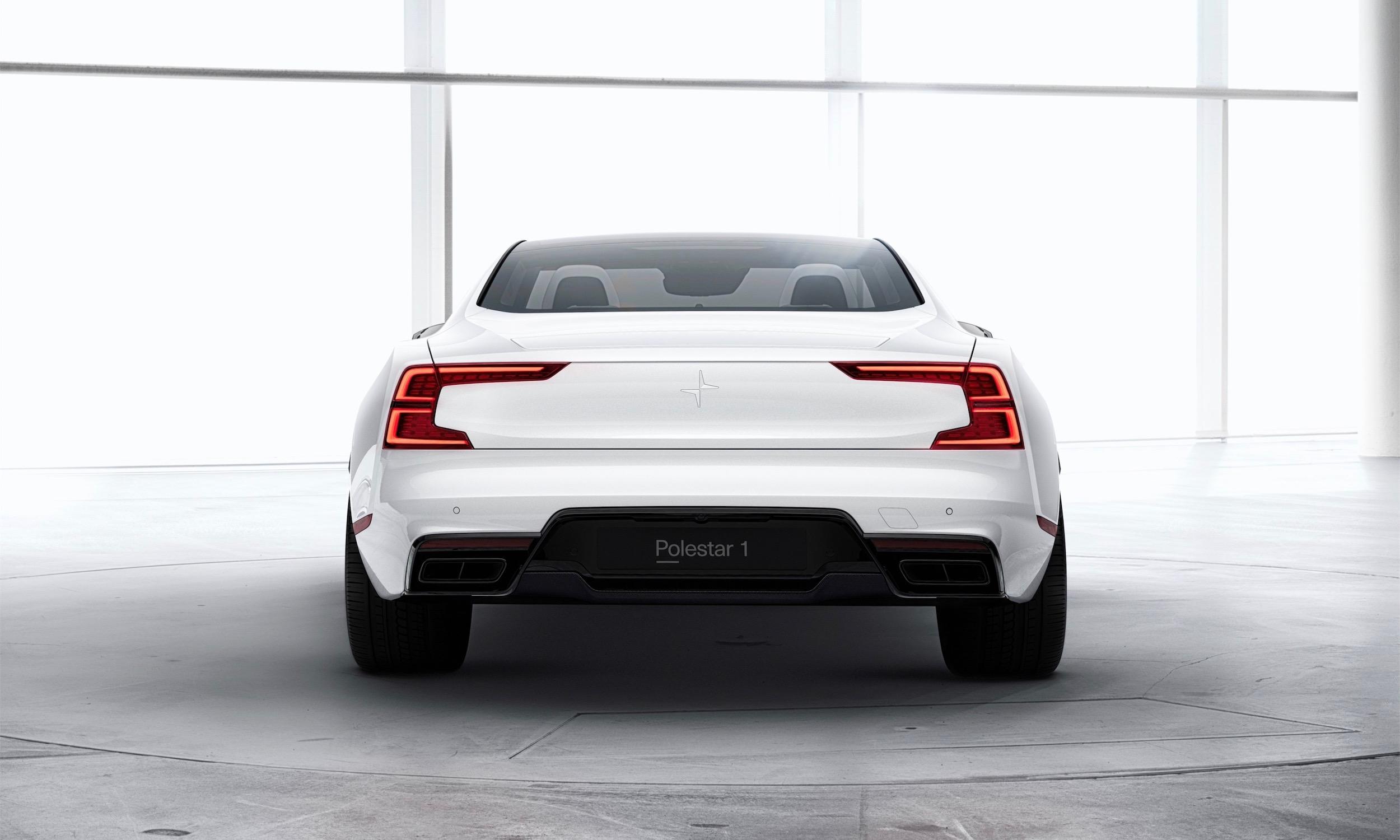 Polestar 1 white exterior, rear