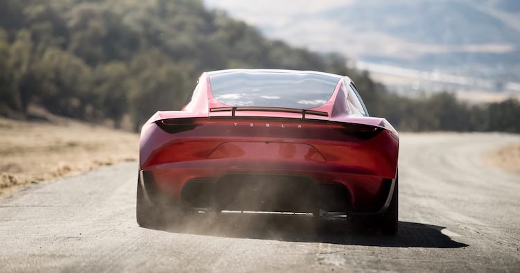 nieuwe Tesla Roadster foto