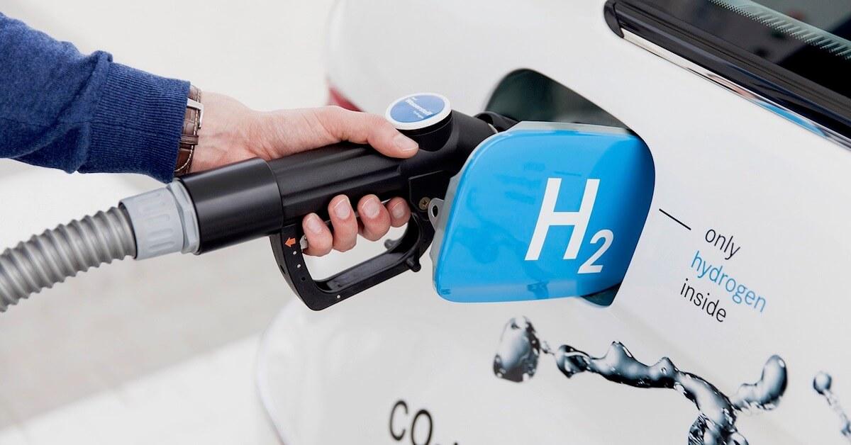 Waterstof tanken auto
