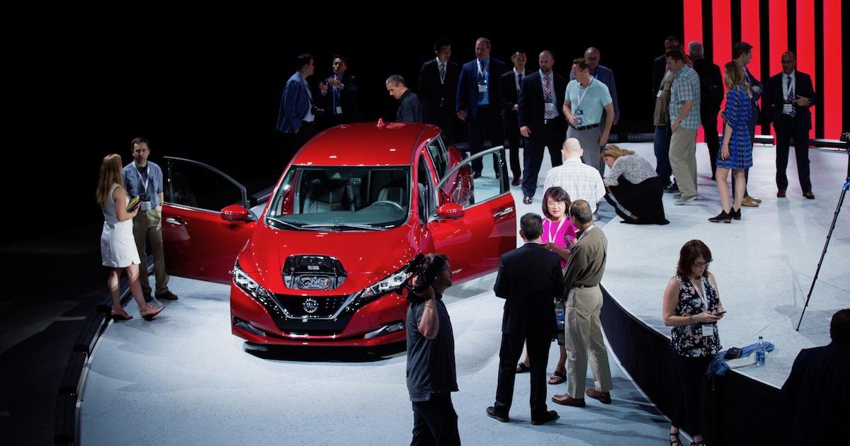 Nissan LEAF autosalon