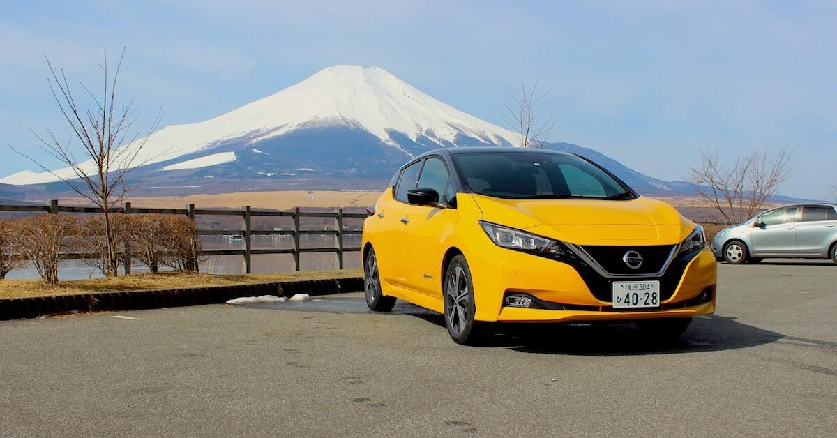 Nissan LEAF berg Fuji