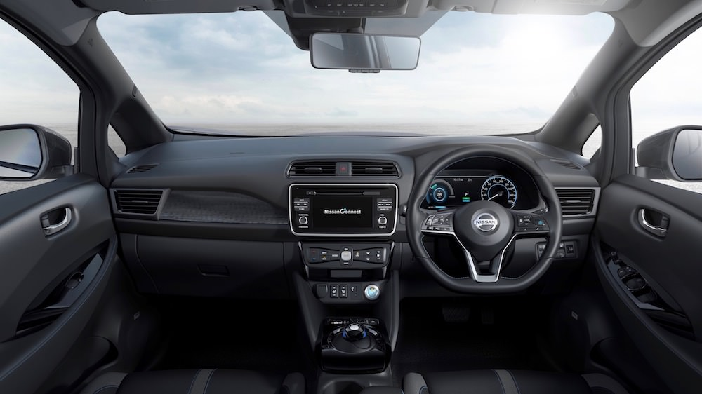 Nissan LEAF interieur (2018)