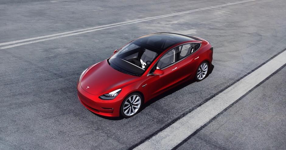 Model 3 glazen dak