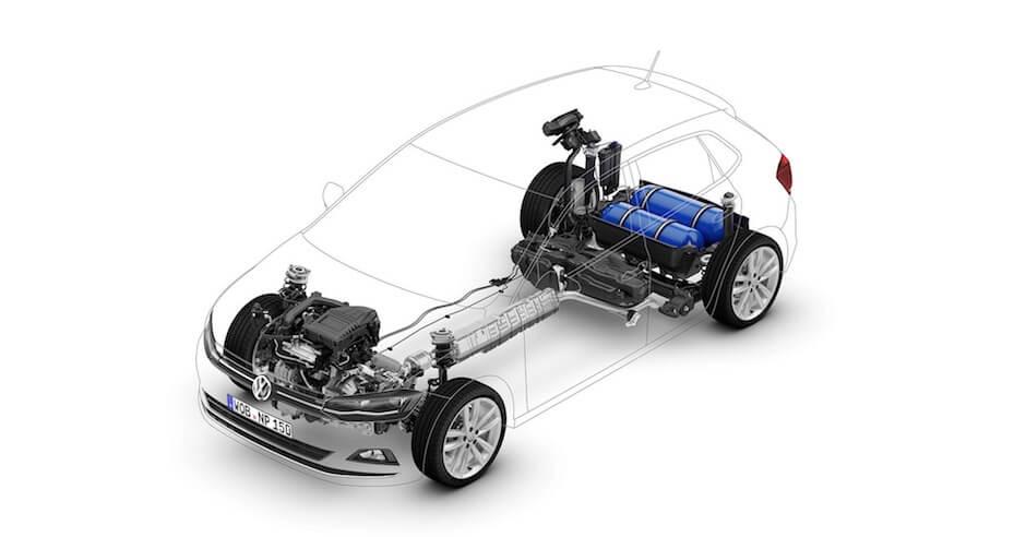 CNG tank aardgas-wagen