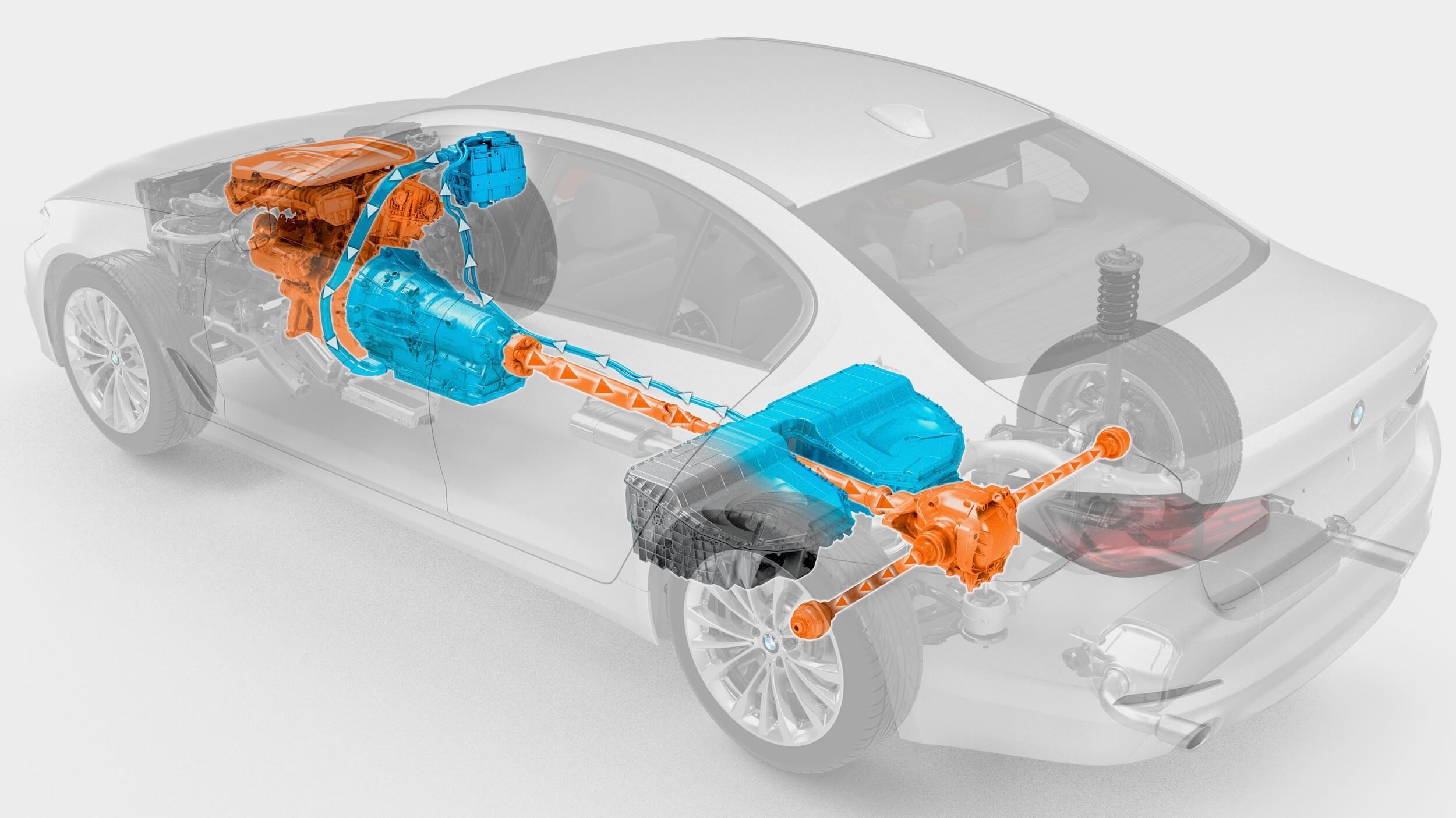 BMW 530e aandrijflijn