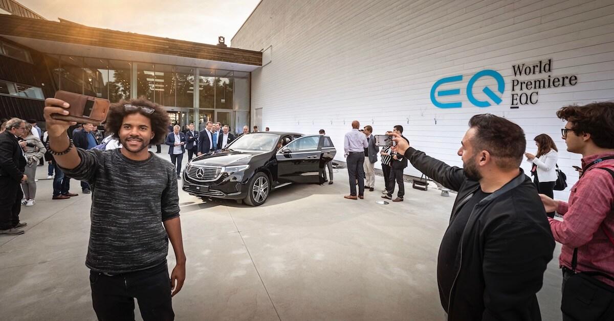 Elektrische EQC autosalon