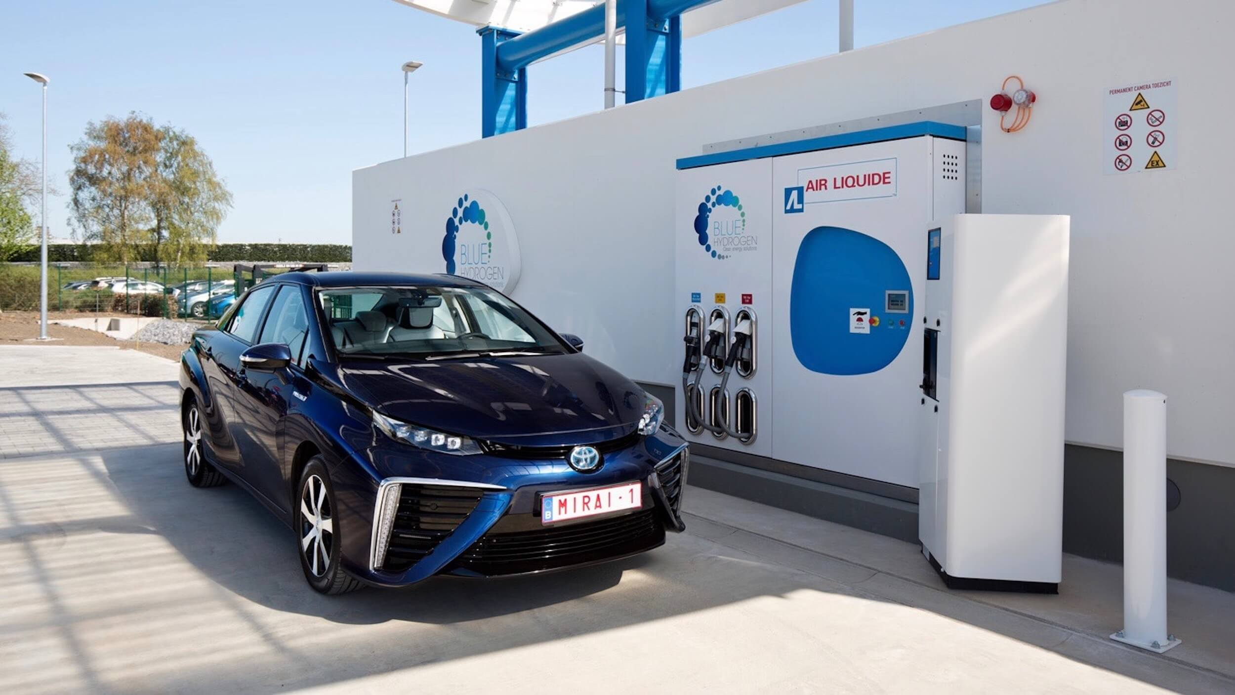 Toyota Mirai waterstof tanken Zaventem