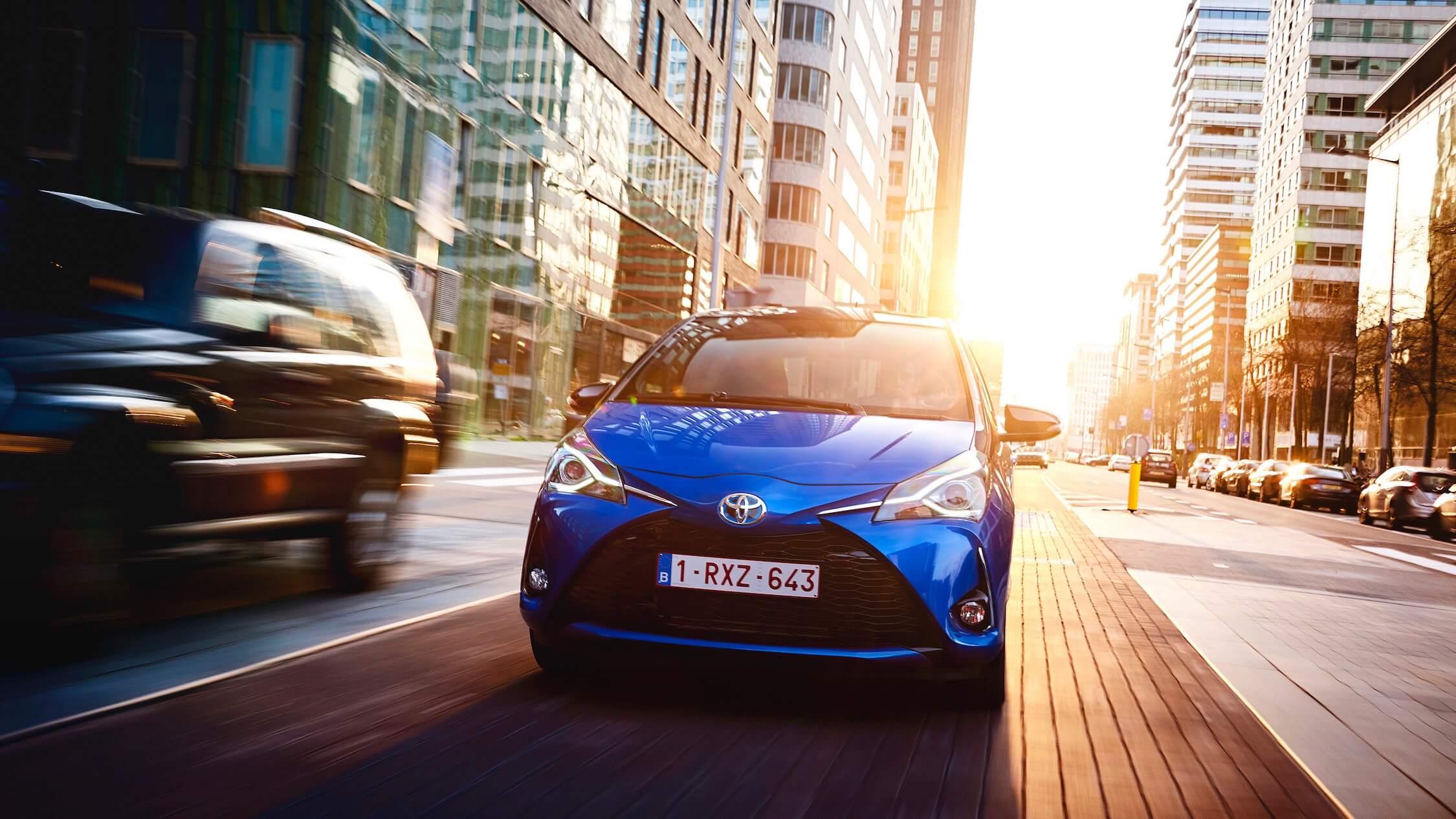 Toyota Yaris blauw