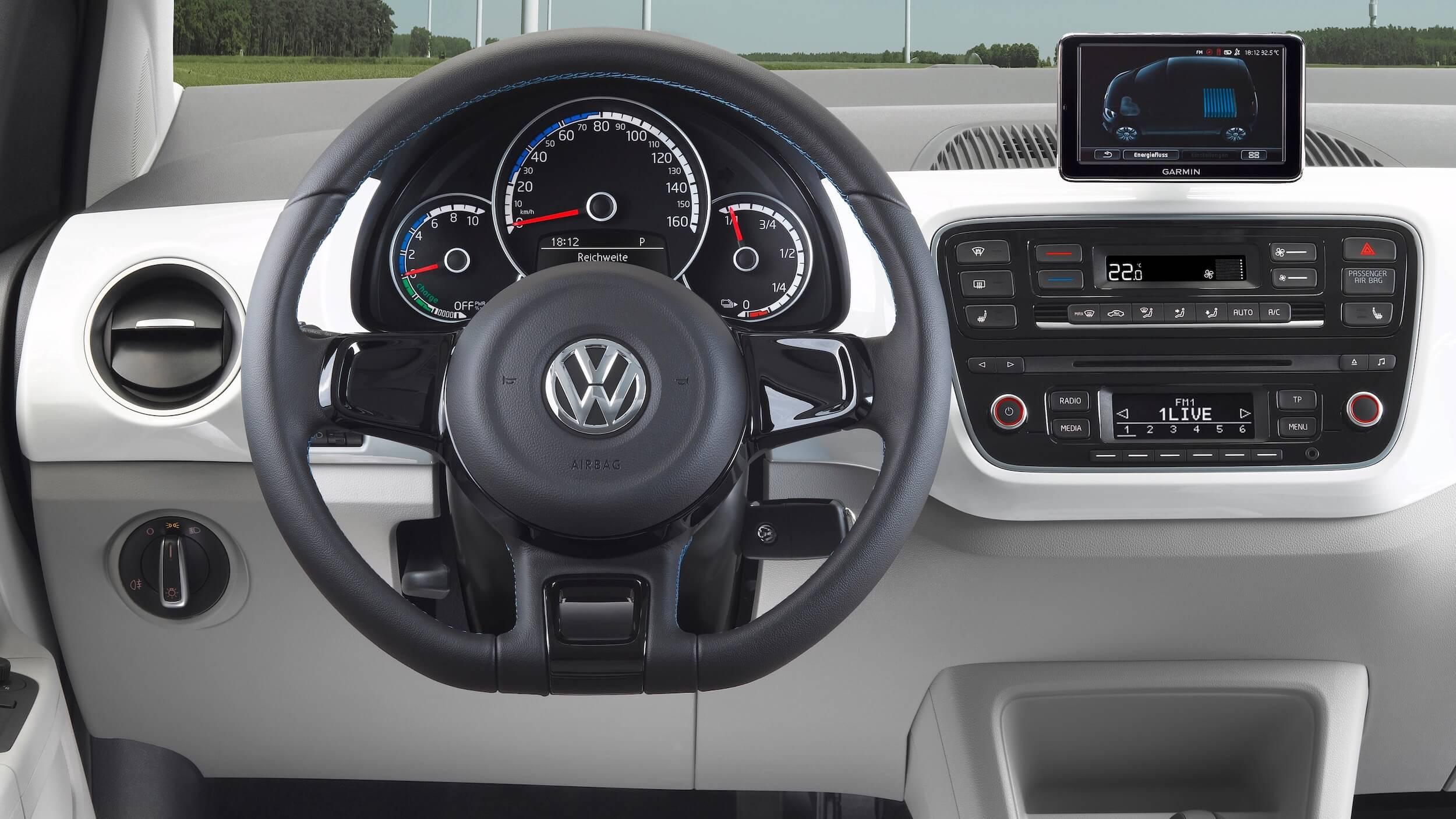 VW e-Up dashboard