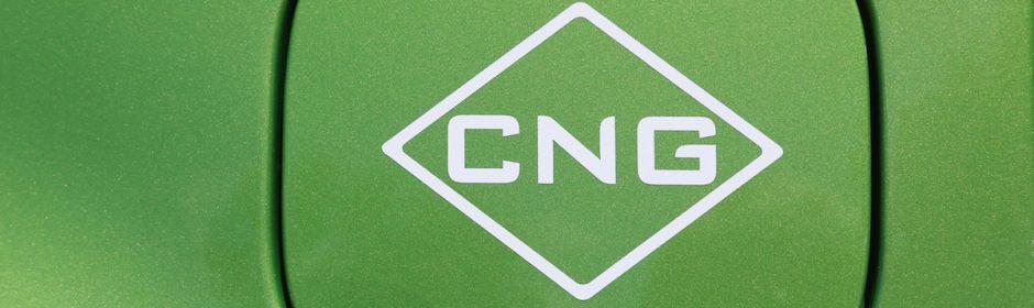 Sticker op CNG auto