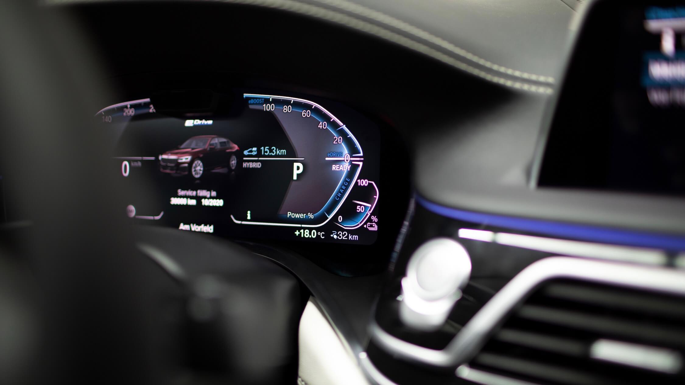 BMW 7 scherm