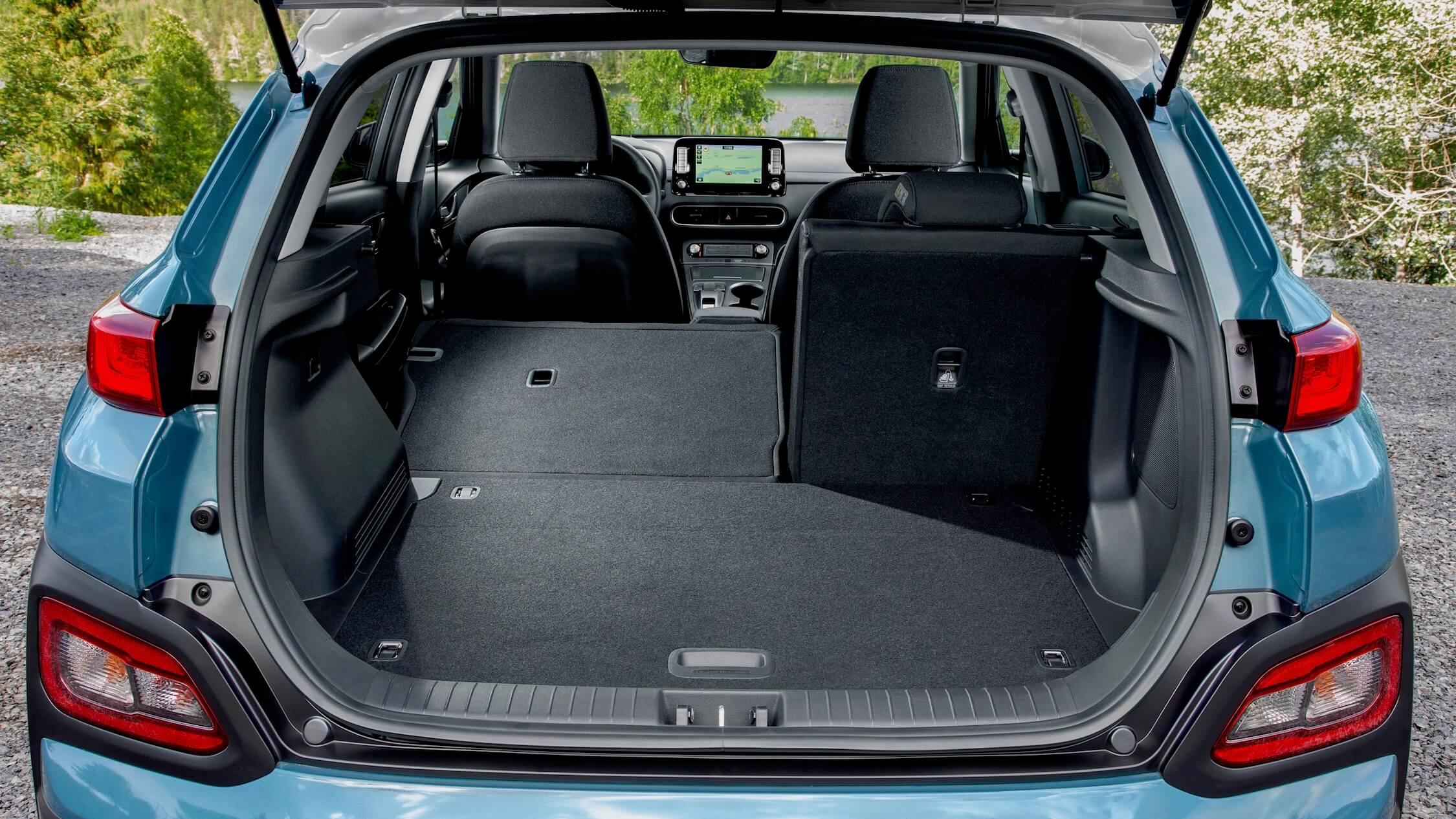 Hyundai Kona EV koffer zetels neer