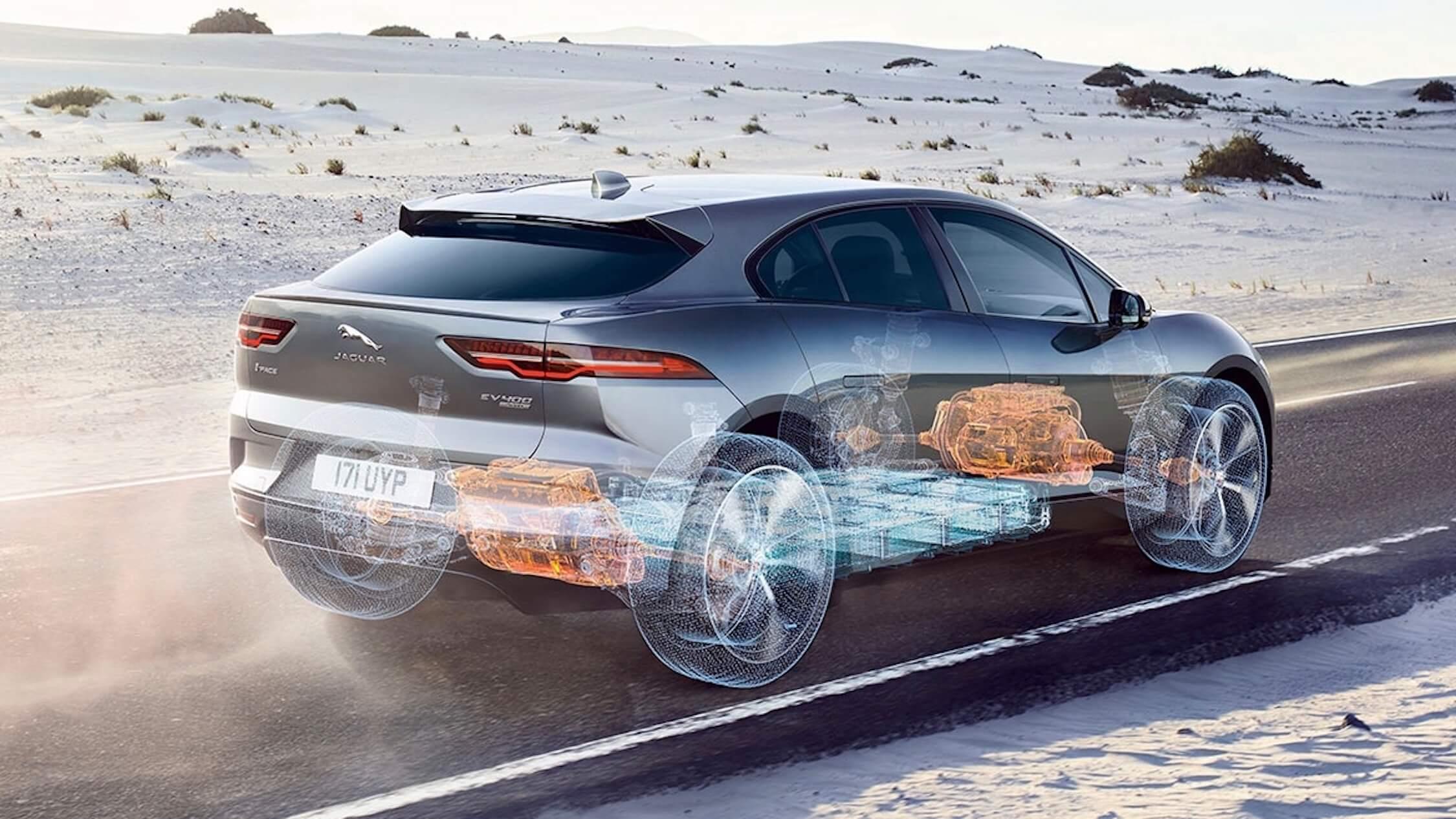 Jaguar I-Pace aandrijflijn