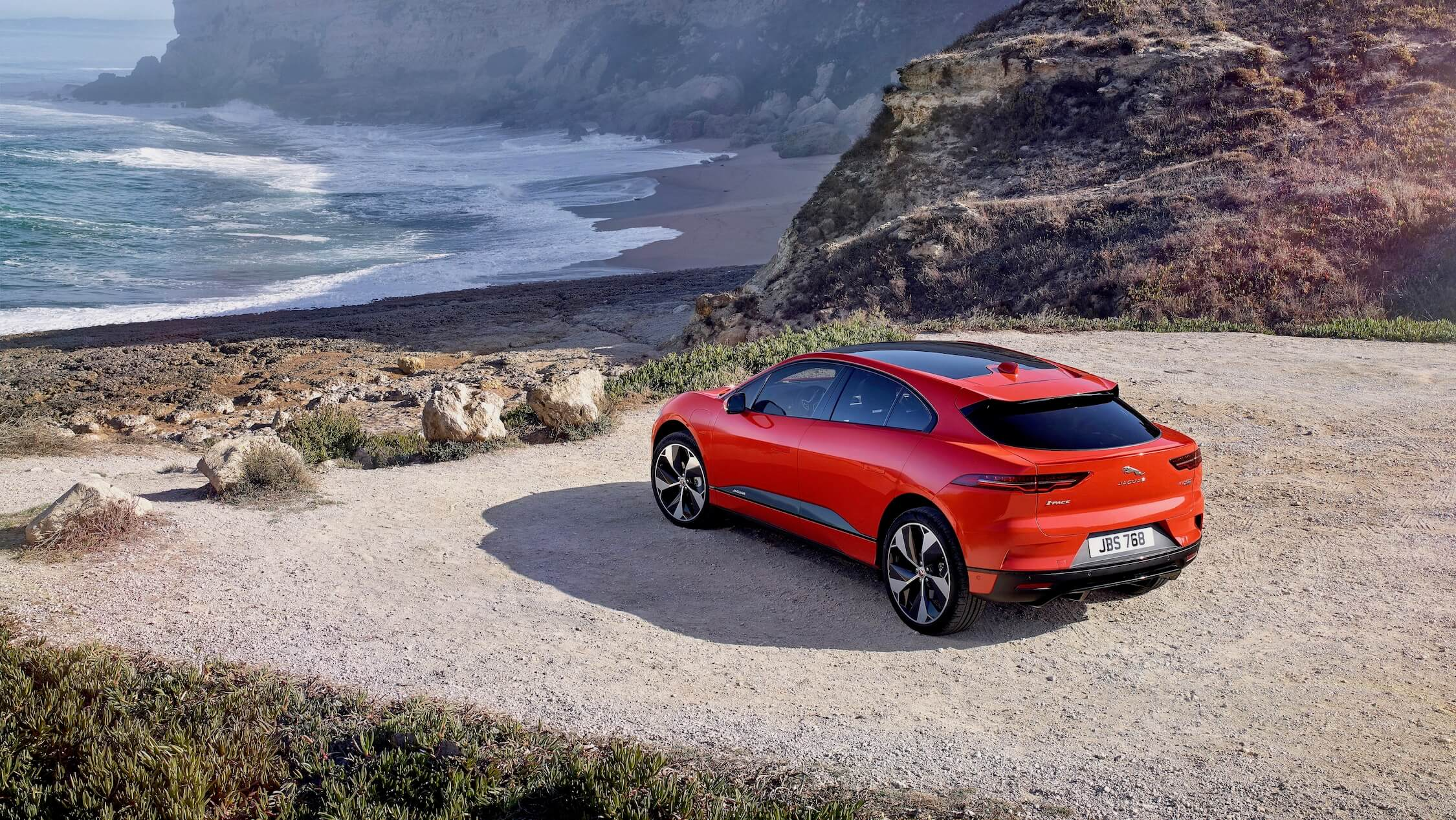Jaguar I-Pace beach