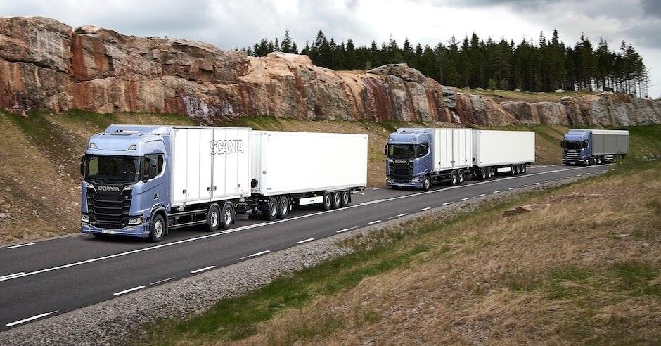 Platooning vrachtwagens