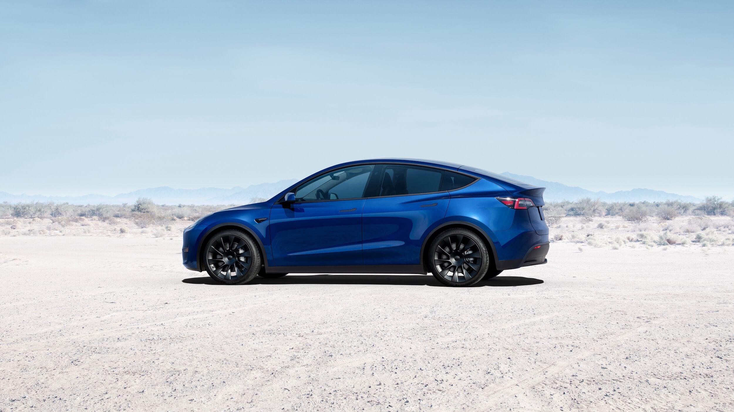 2021 Tesla Model Y blauw