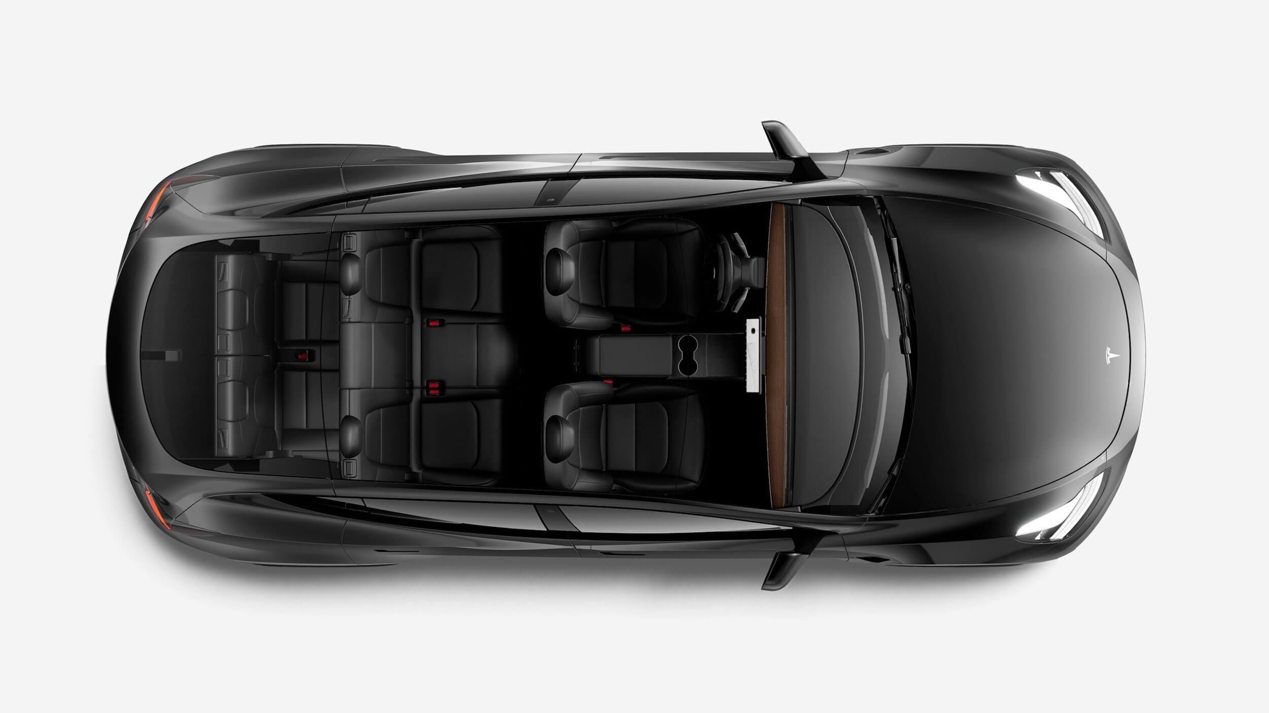 2021 Tesla Model Y bovenaanzicht