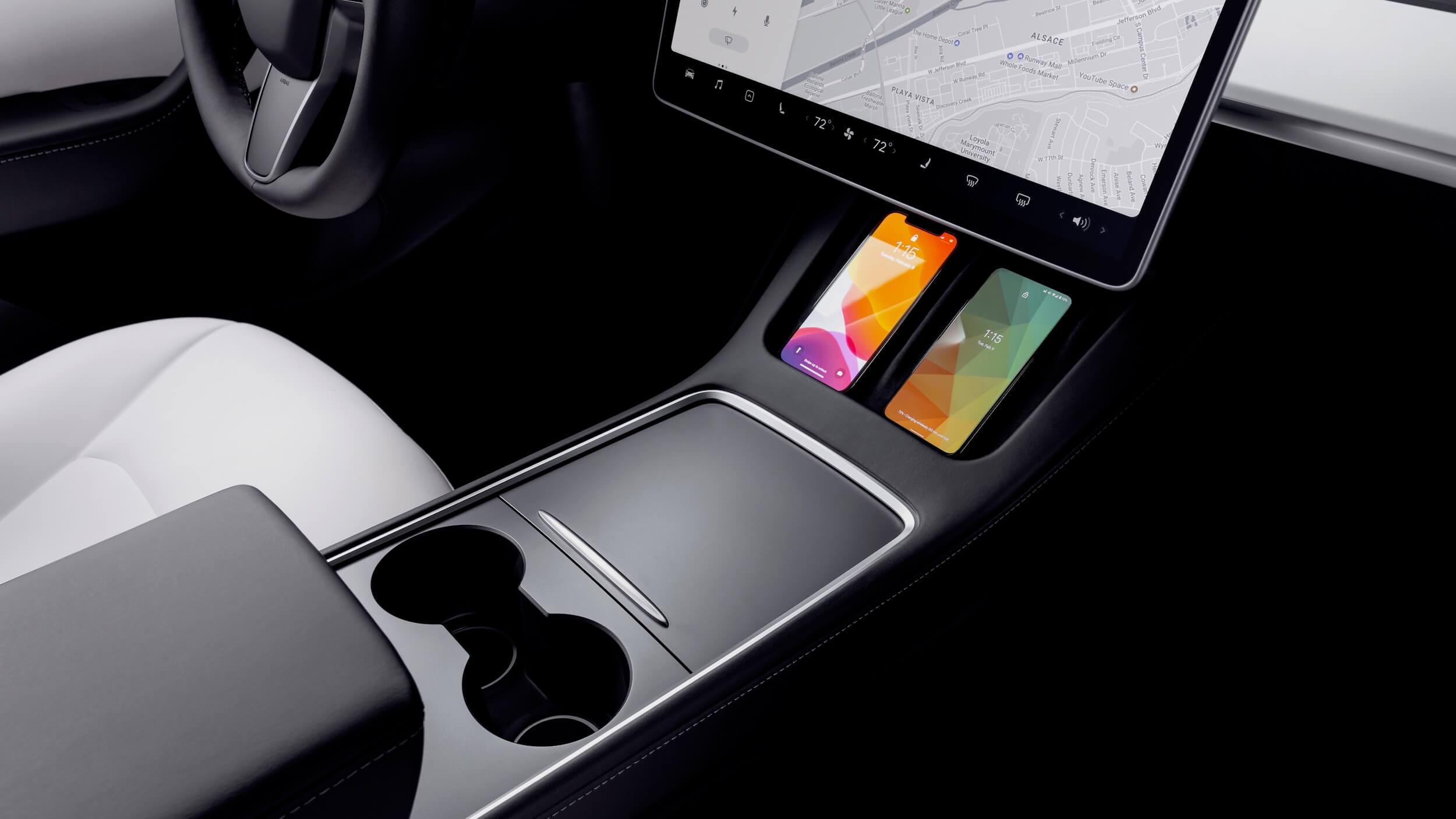 2021 Tesla Model Y middenconsole