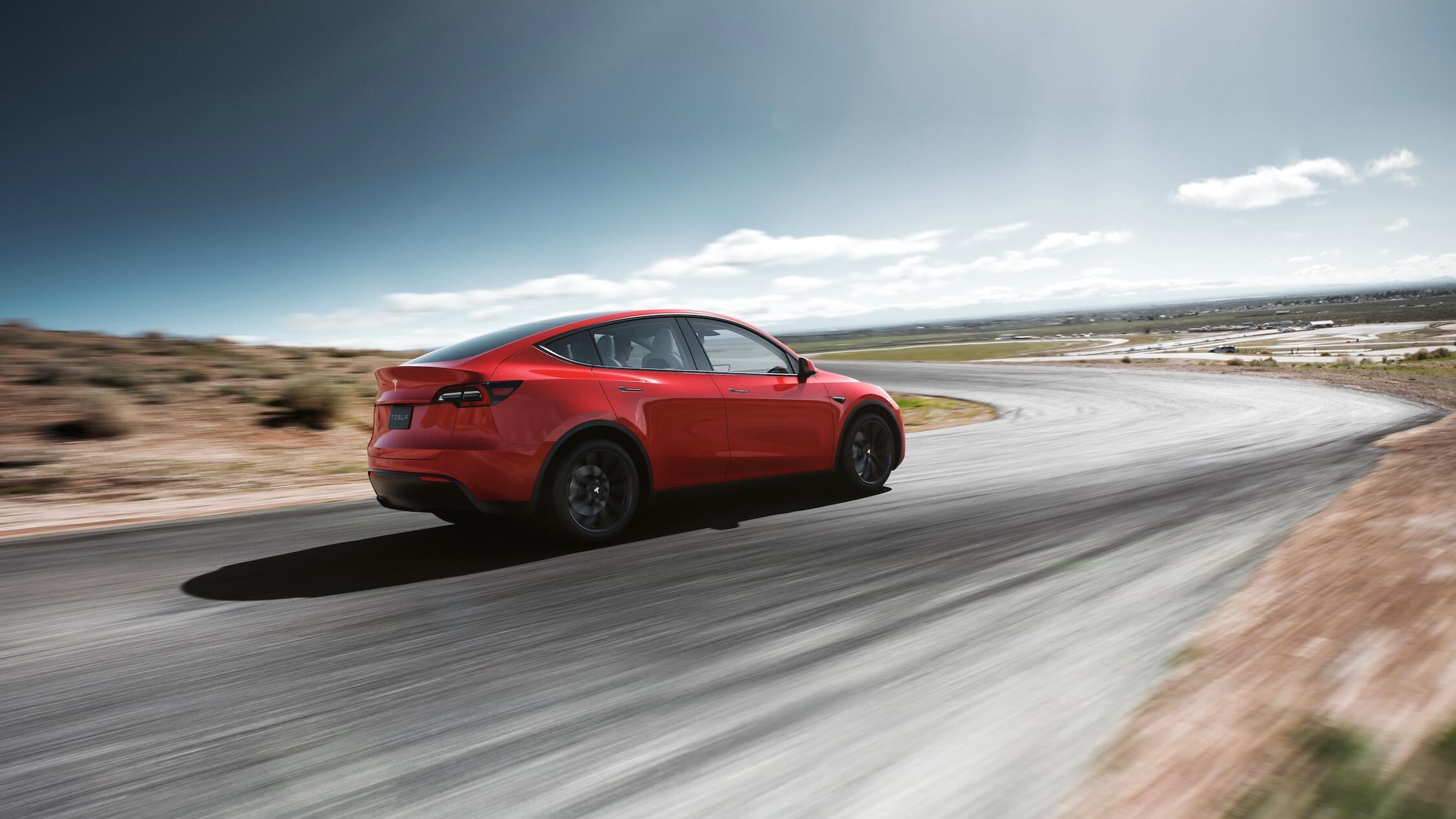 Elektrische Tesla Model Y rood