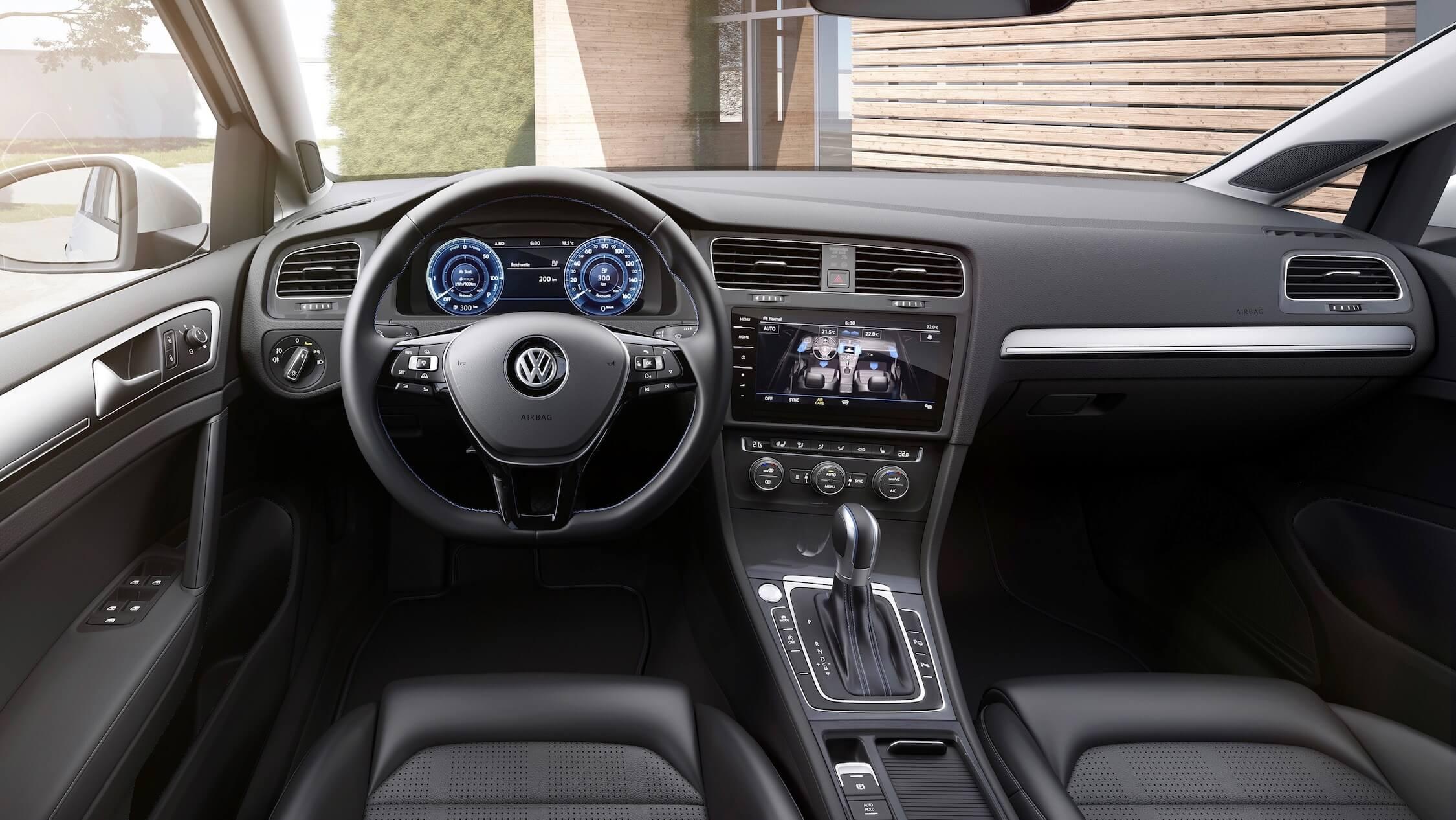 Elektrische Volkswagen Golf interieur