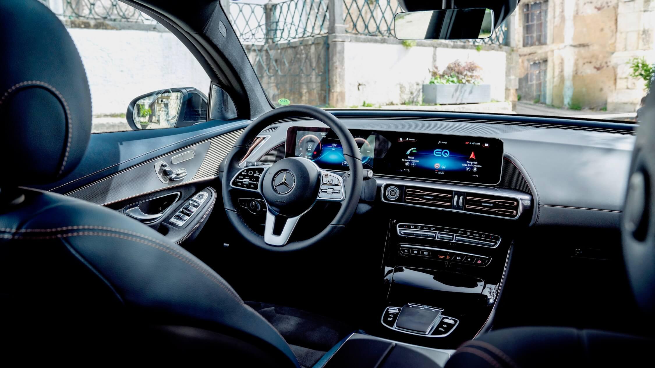 Mercedes EQC scherm