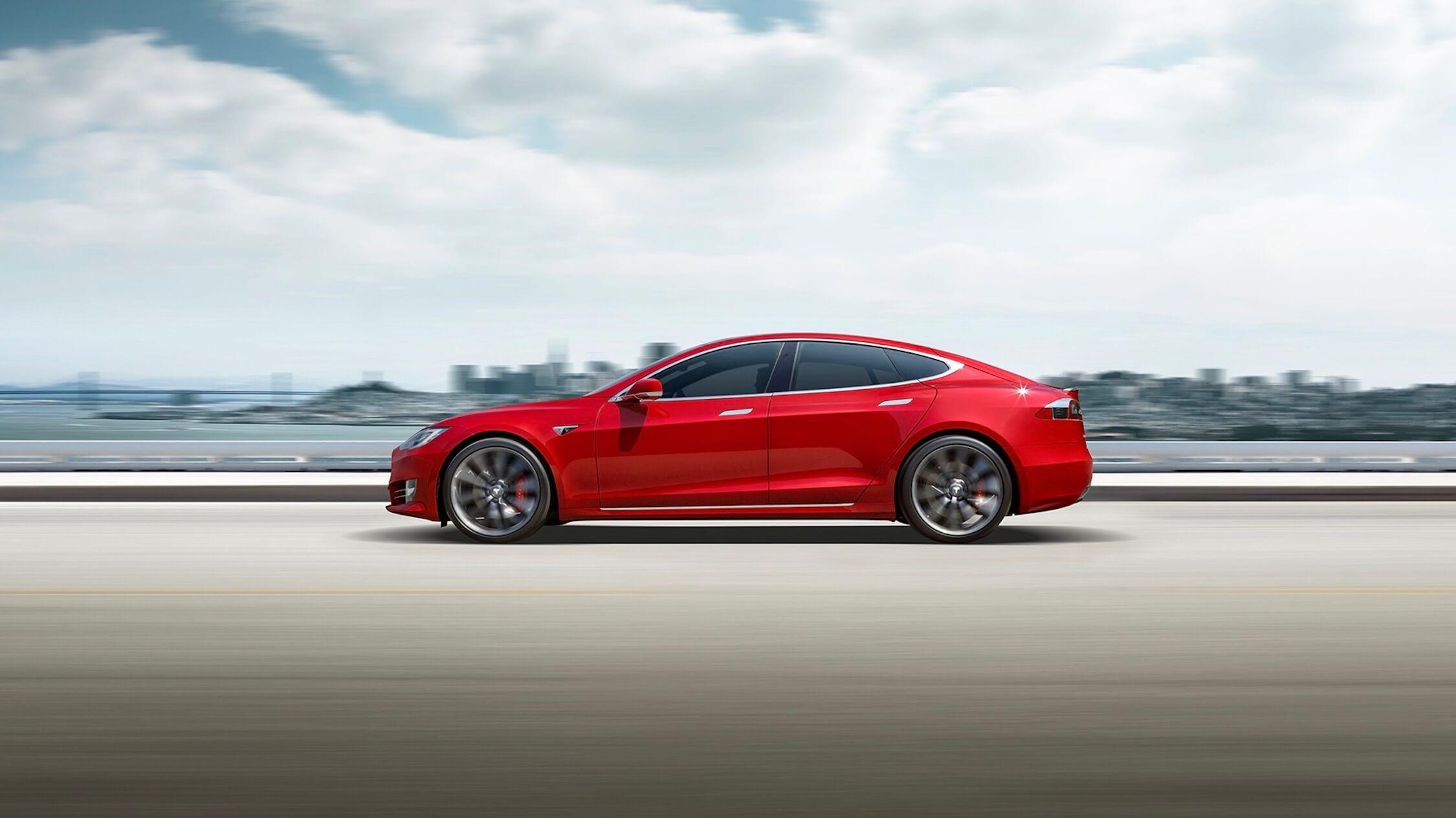Tesla Model S elektrische auto