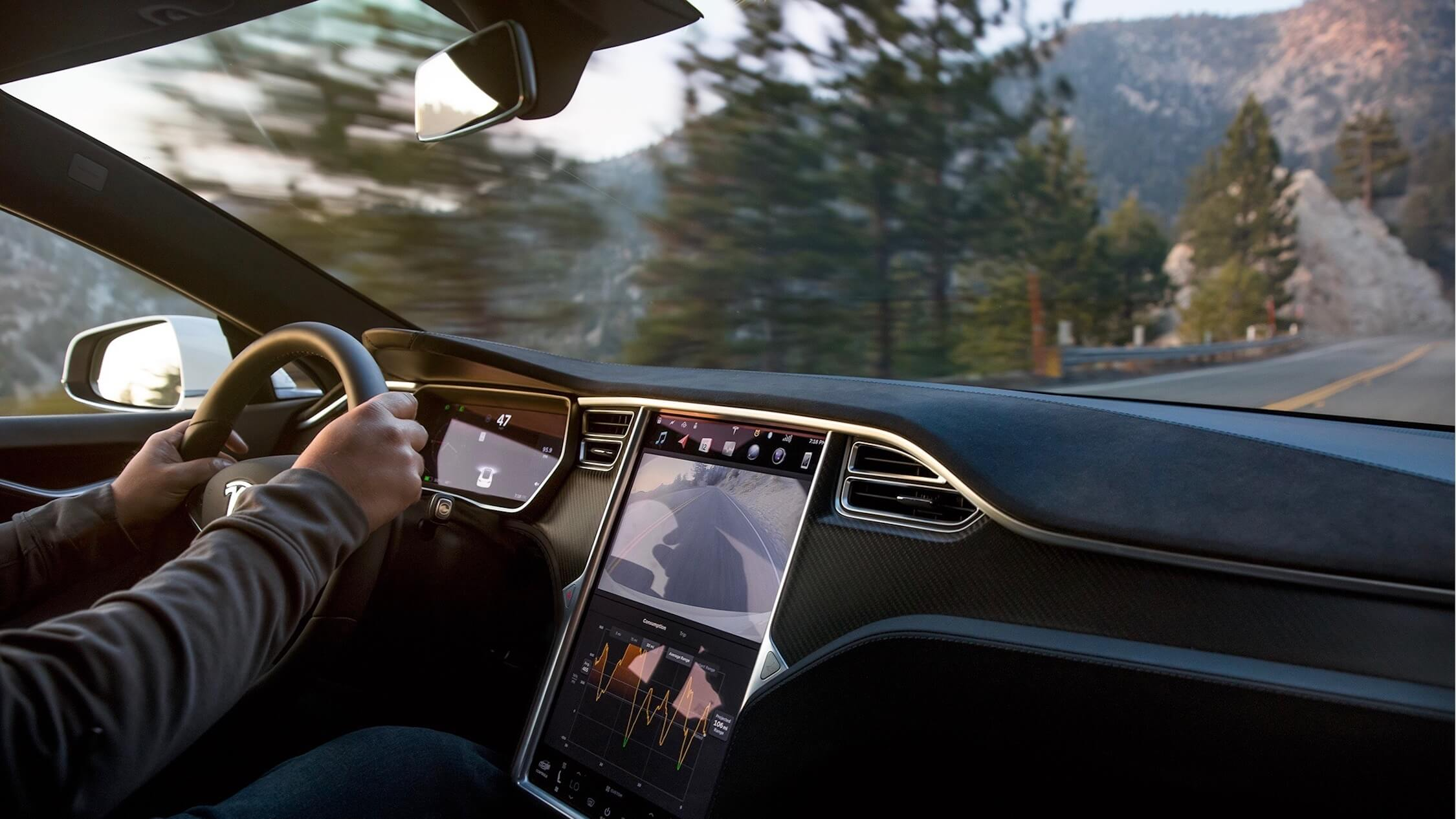 Tesla Model S interieur