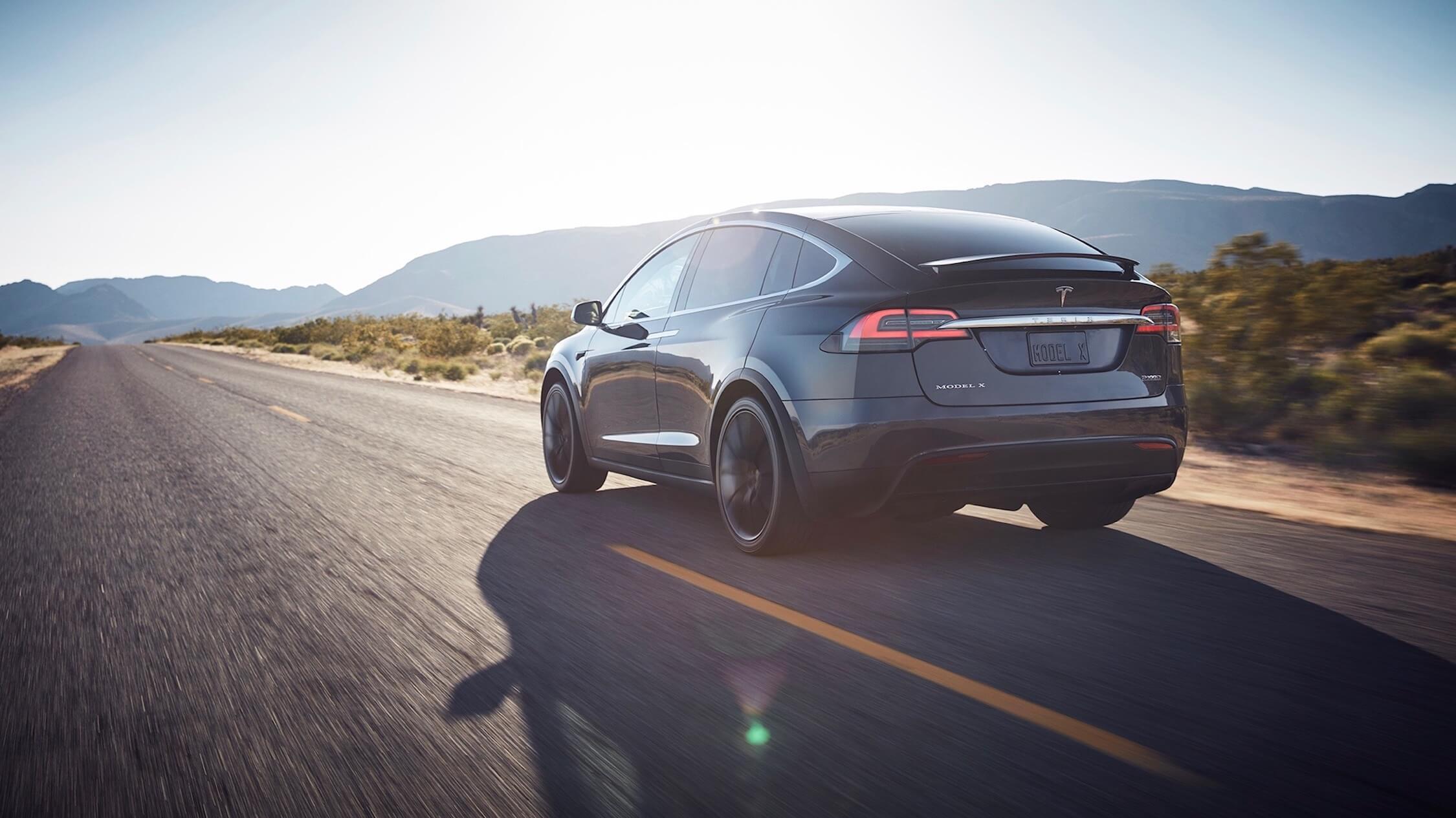 Tesla Model X achterkant