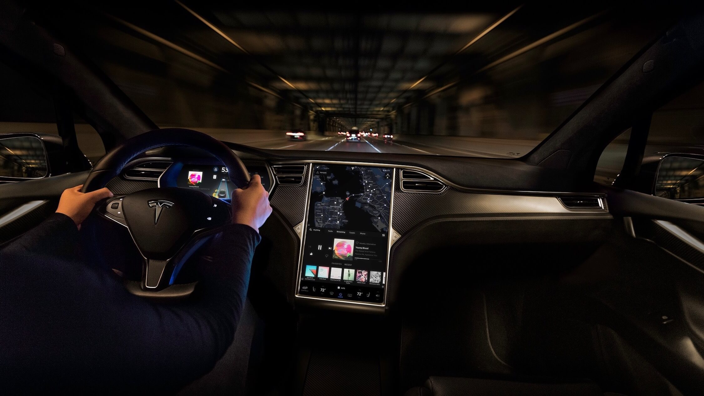 Tesla Model X interieur