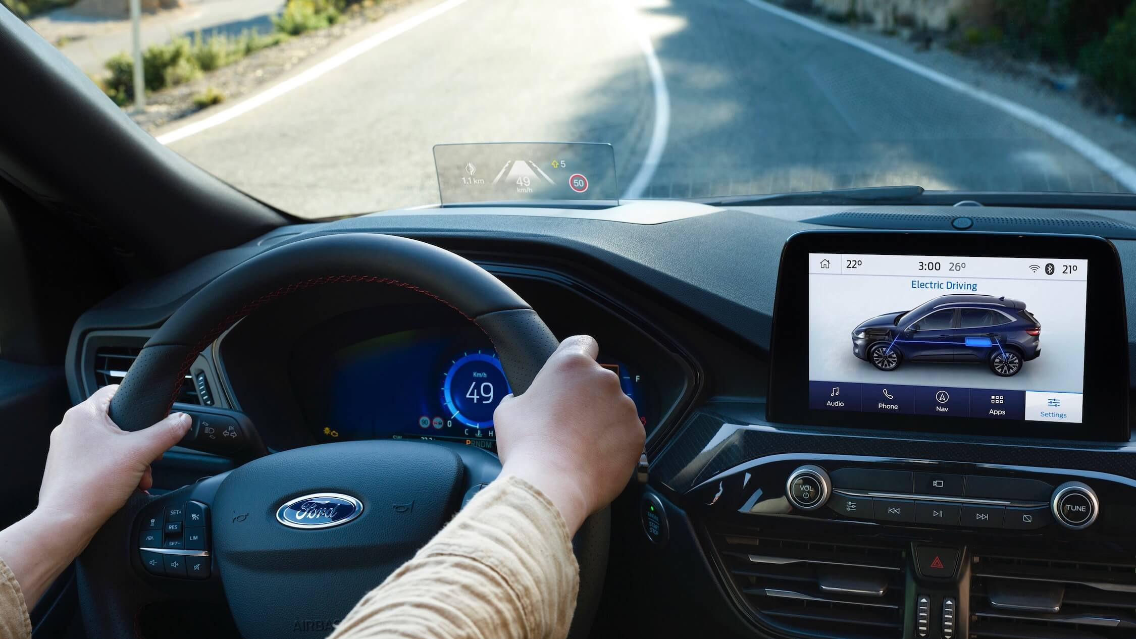 2019 Ford Kuga head-up display