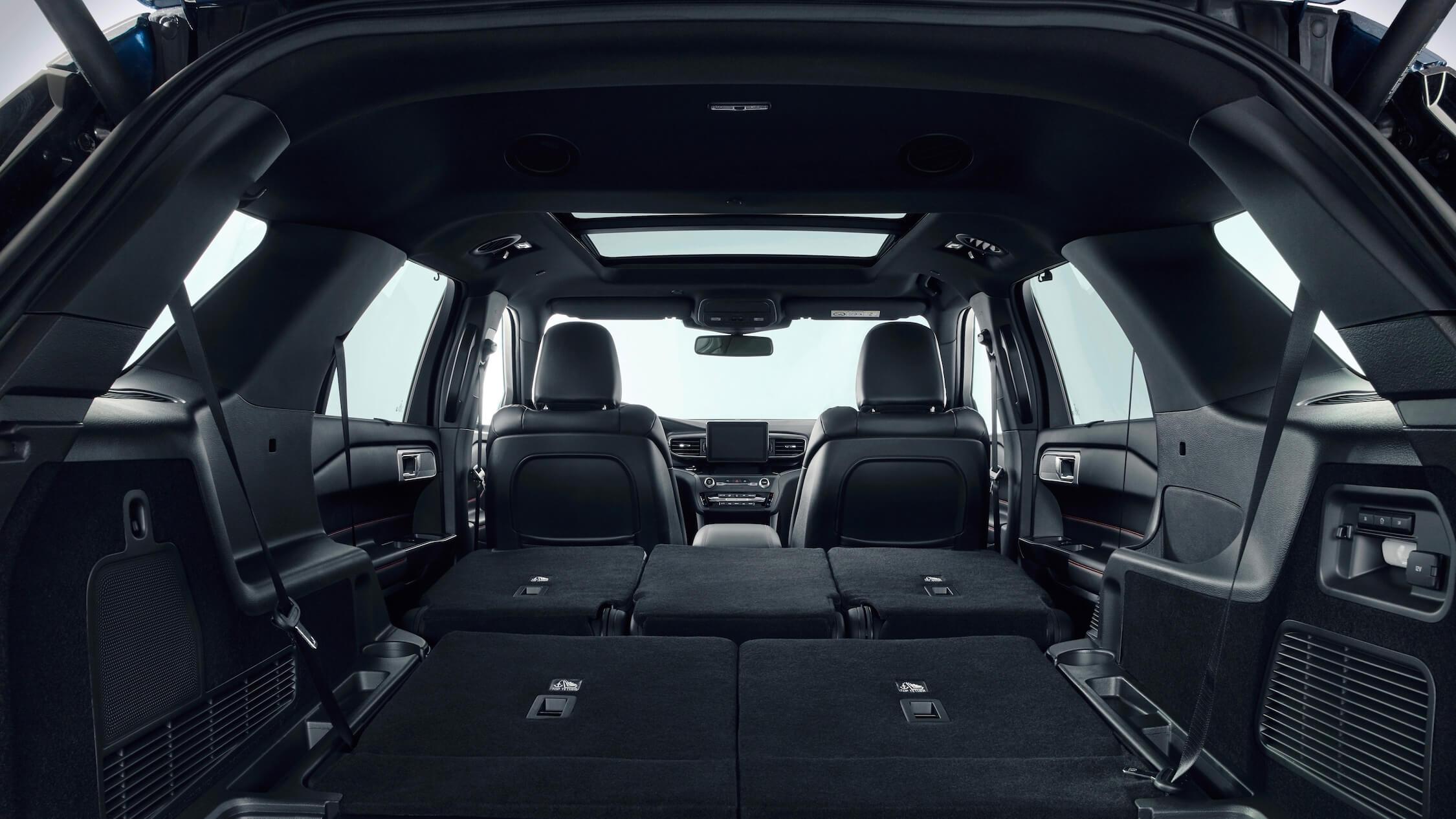 2020 Ford Explorer achterbank neergeklapt