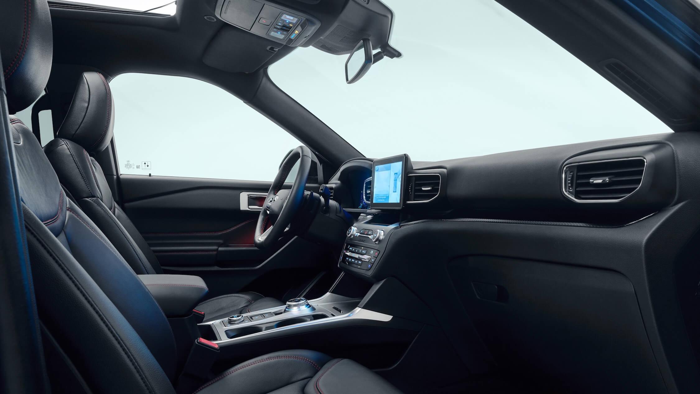 2020 Ford Explorer zetels dashboard