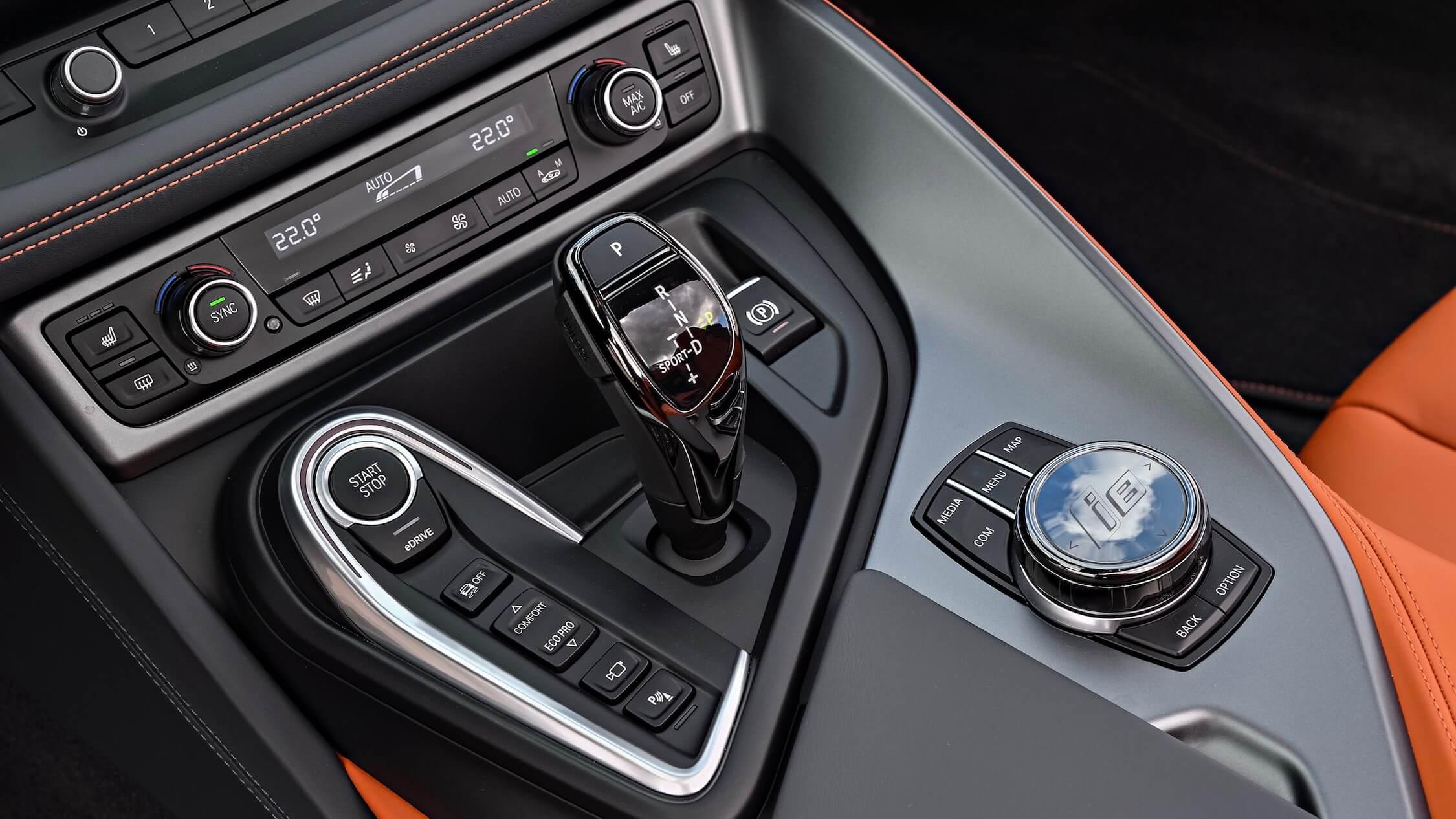 BMW i8 middenconsole