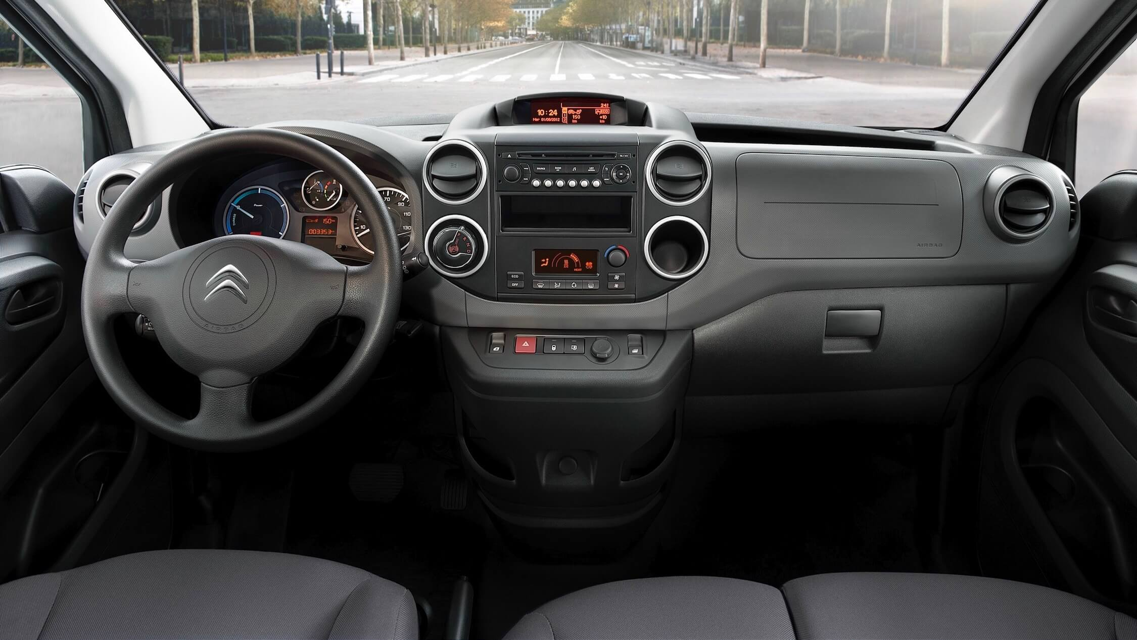 Elektrische Citroen Berlingo interieur