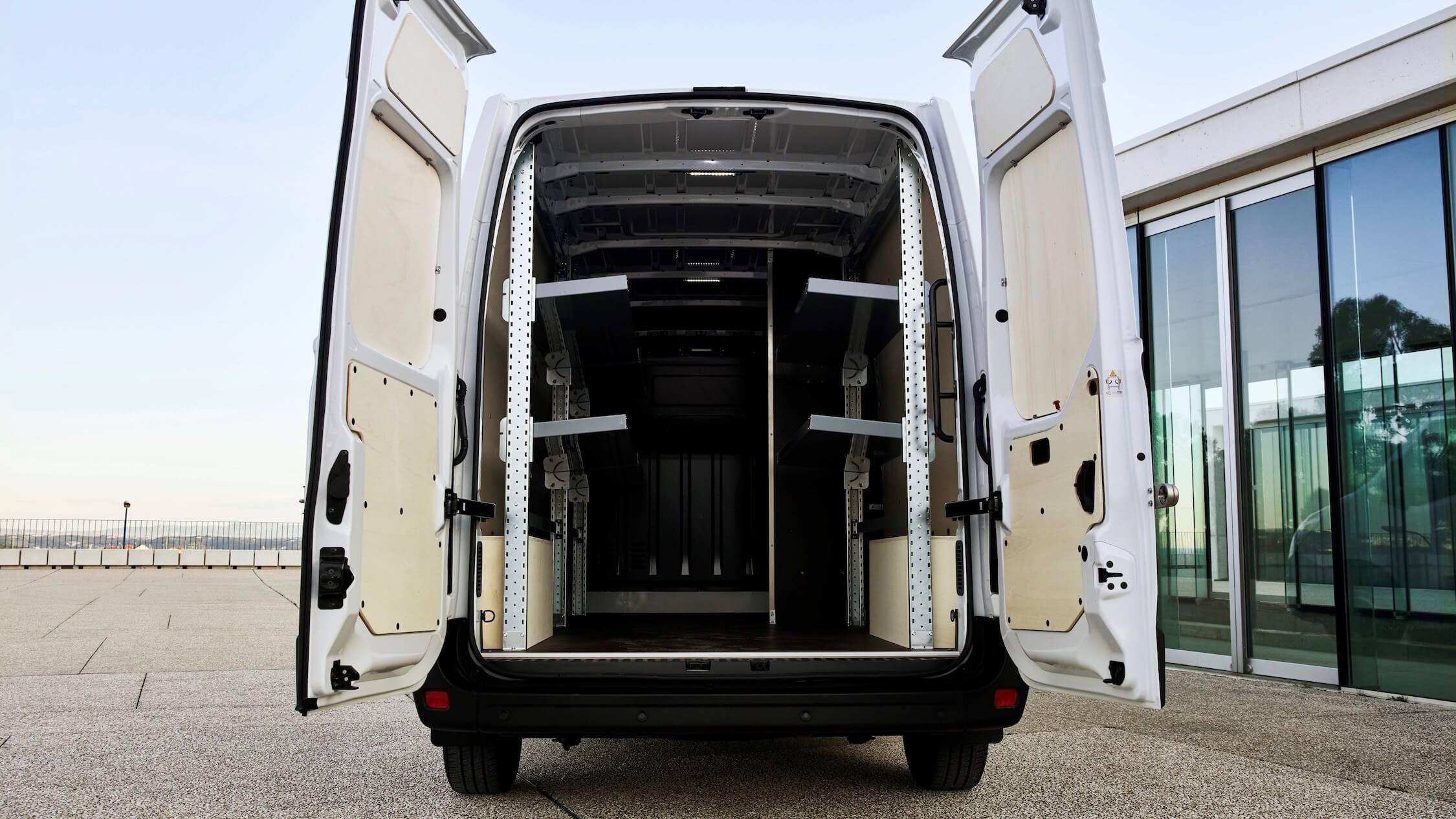 Elektrische Renault Master ZE laadruimte