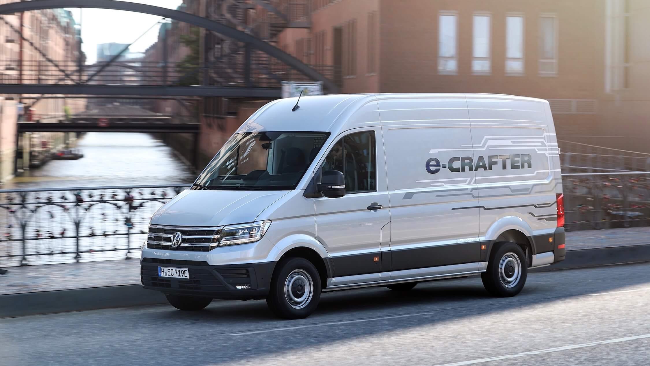 Elektrische VW Crafter bestelwagen
