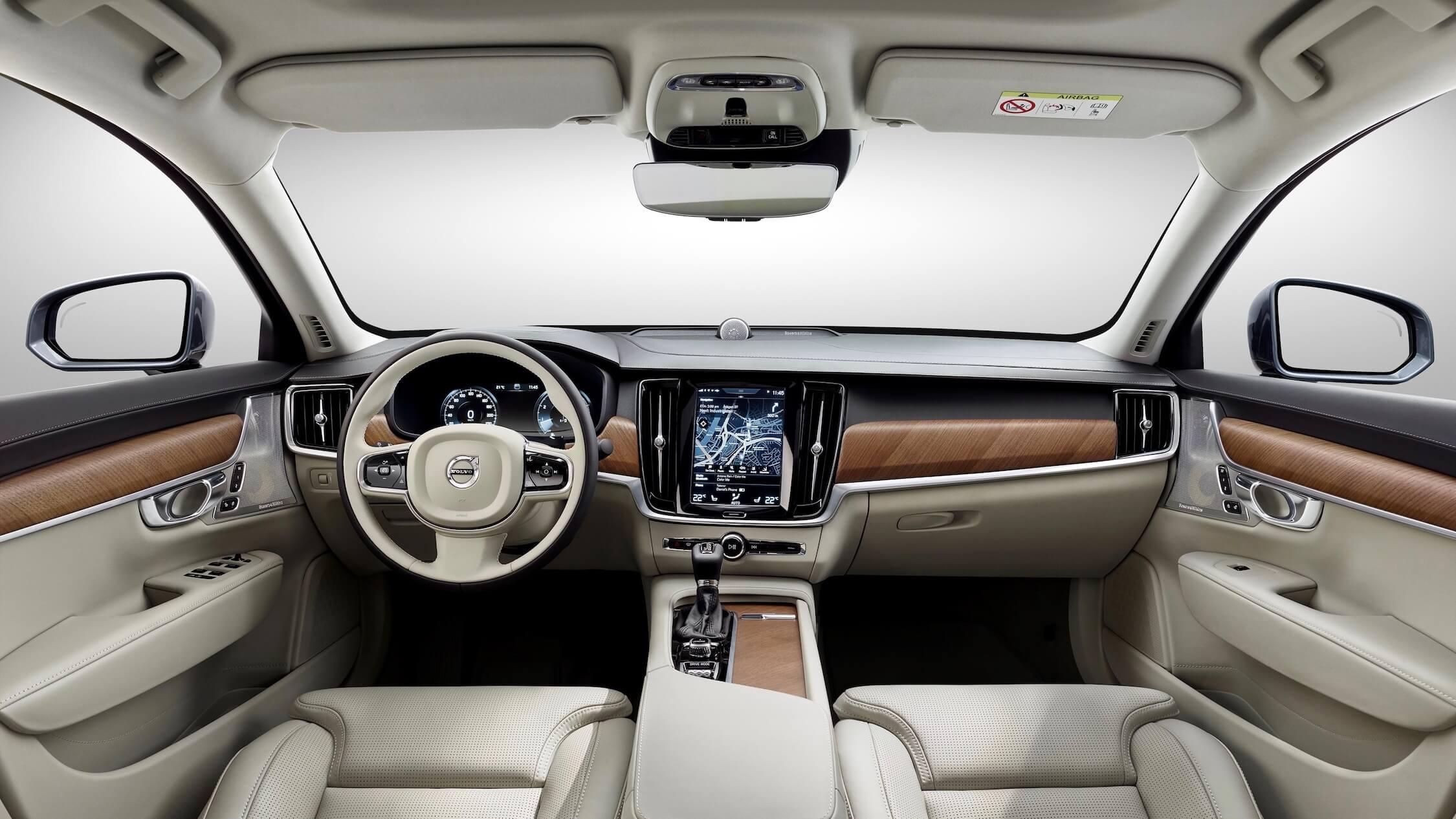 Hybride Volvo V90 interieur