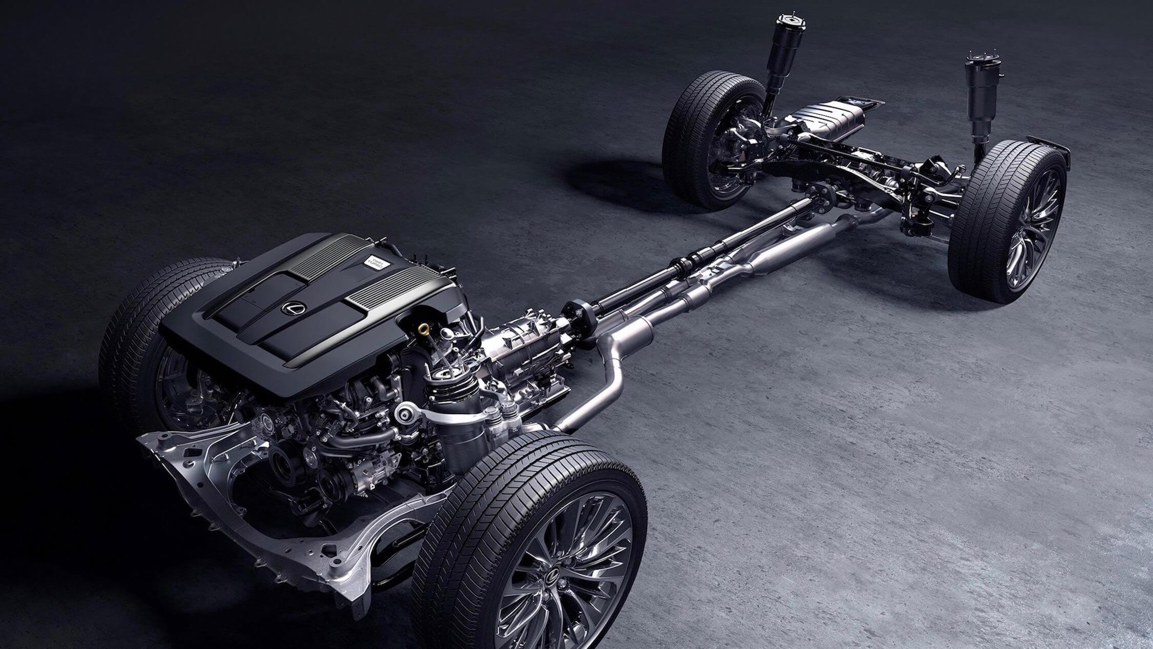 Lexus LS 500h aandrijflijn