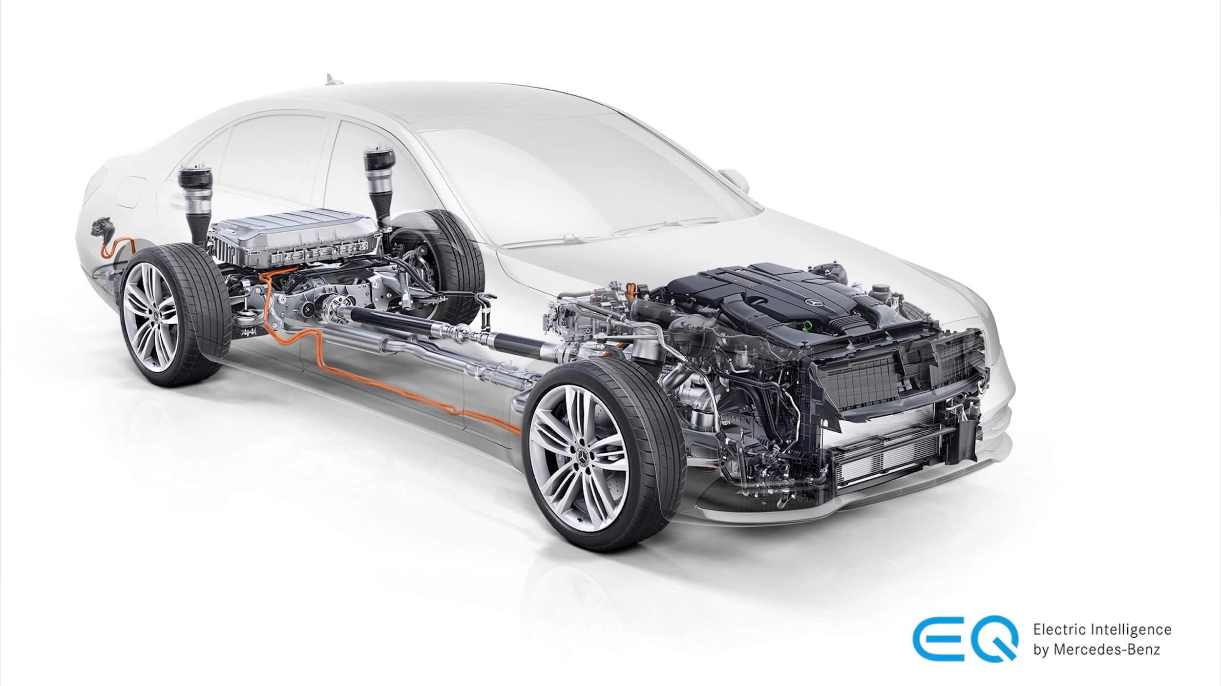 Mercedes S 560e batterij