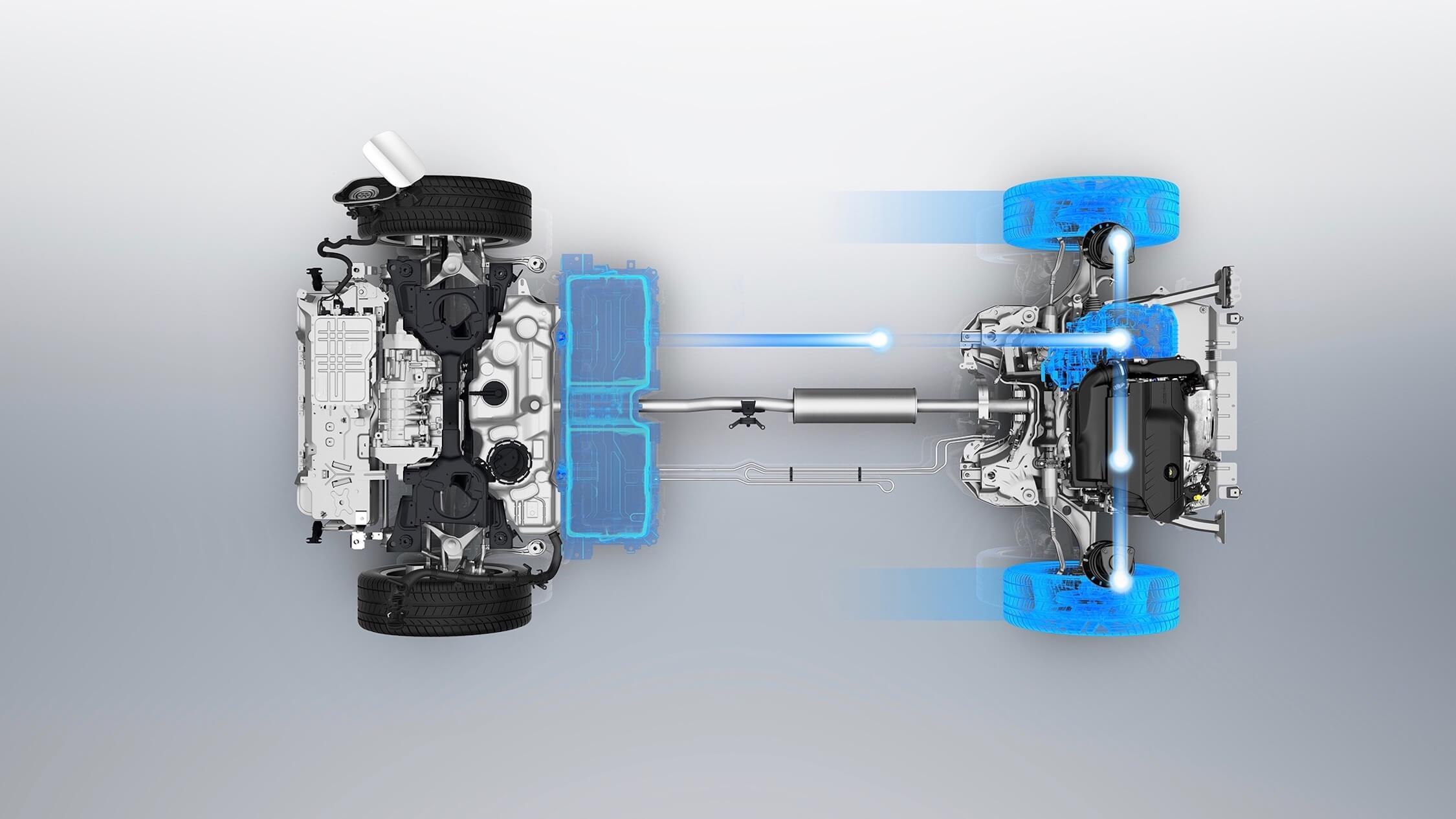 Peugeot 3008 Hybrid aandrijflijn